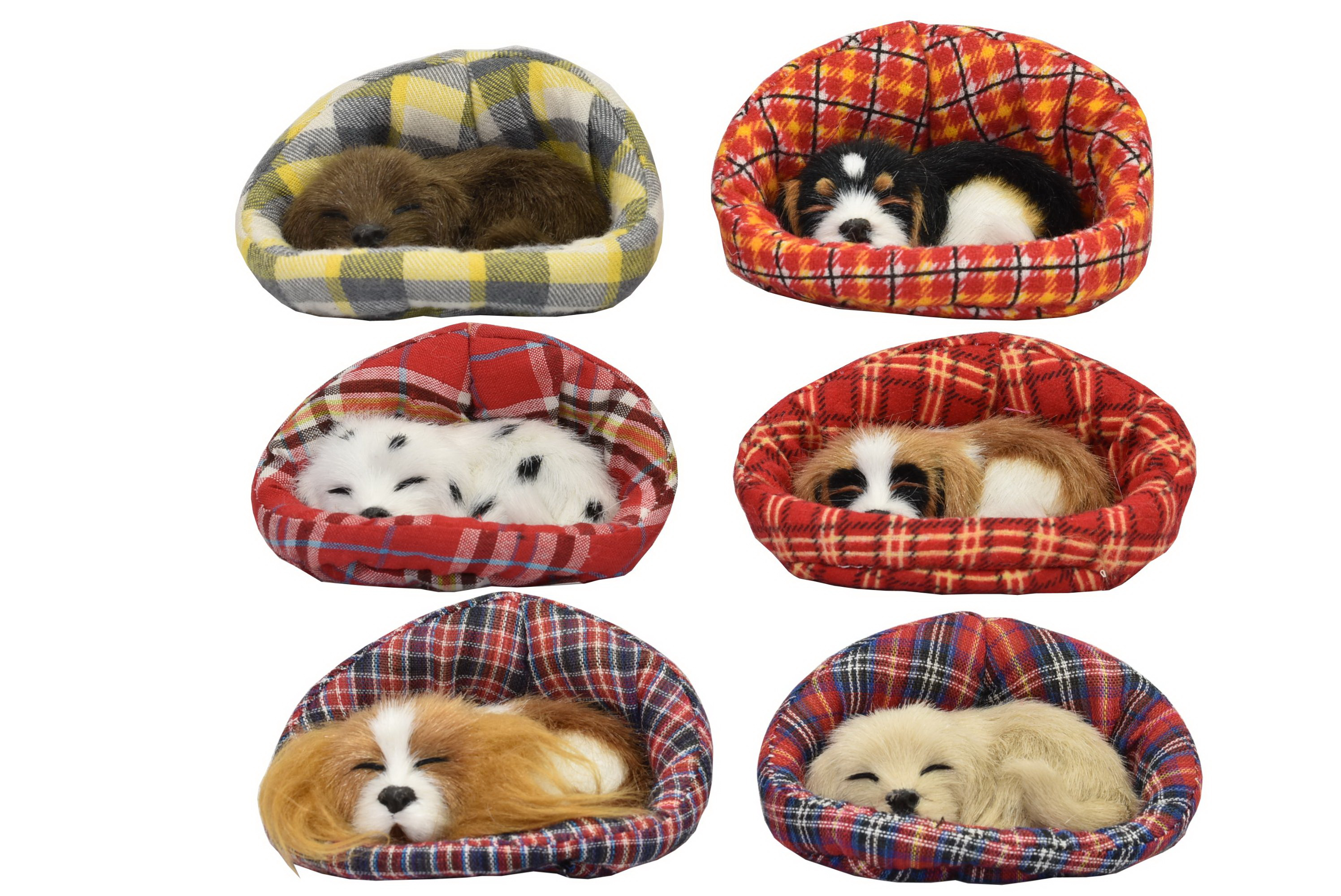 Small Dogs In Basket 6 Assorted