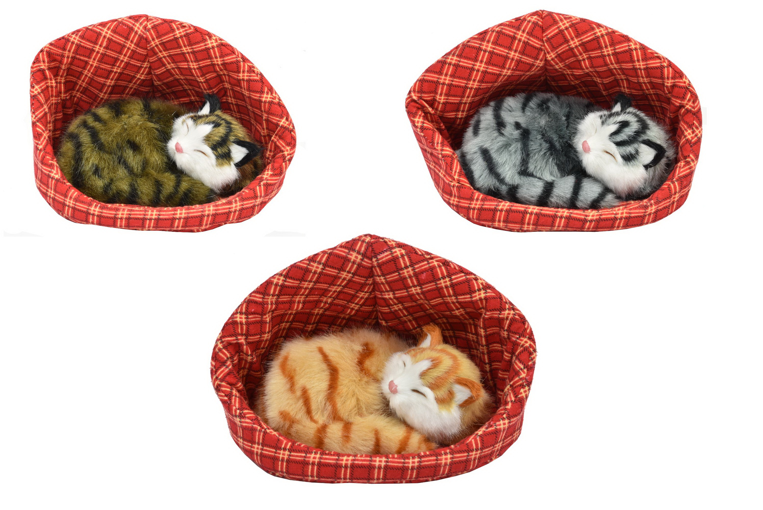 Cats With Sound In Basket 3 Assorted