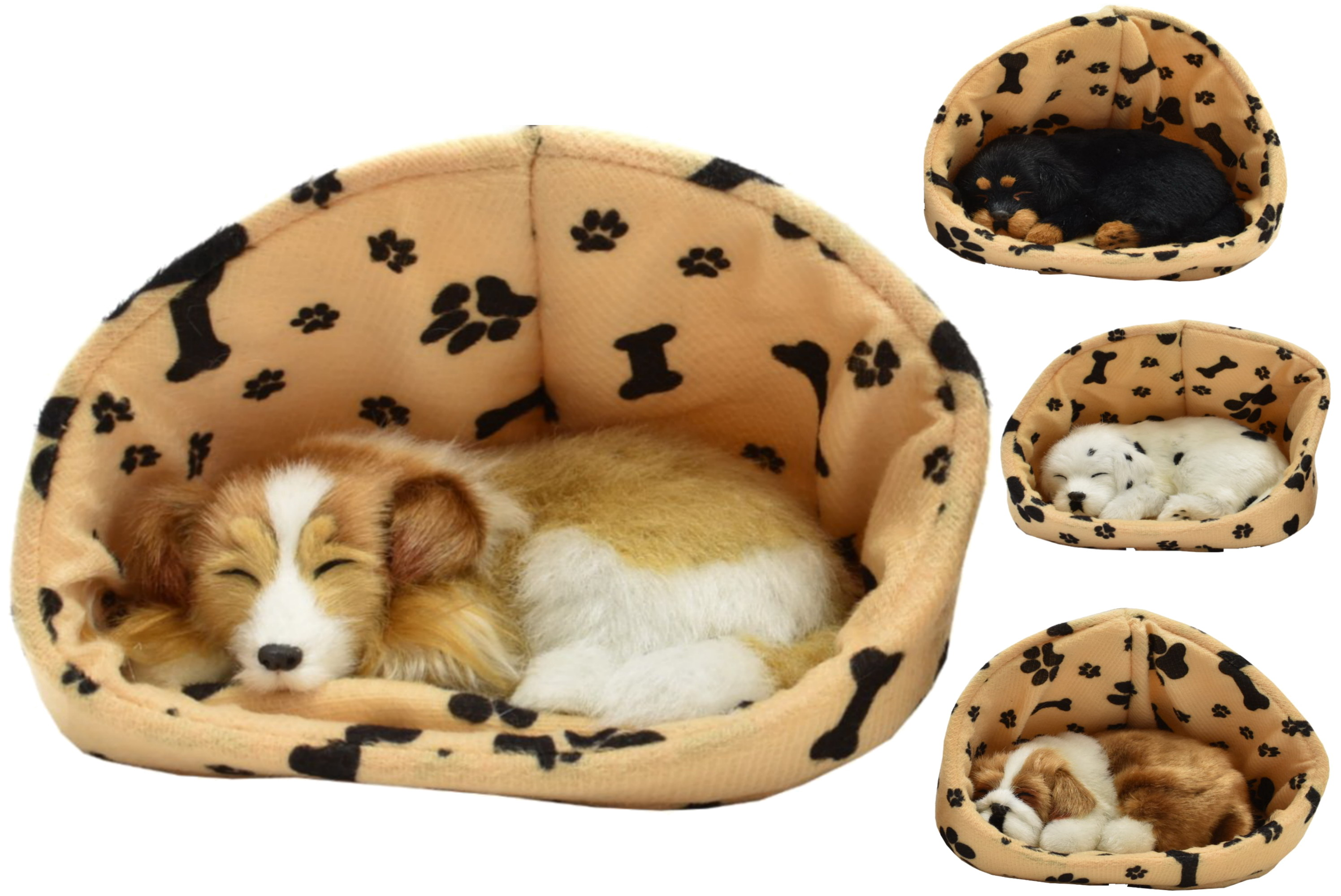 Dogs In Basket With Sound 6 Assorted
