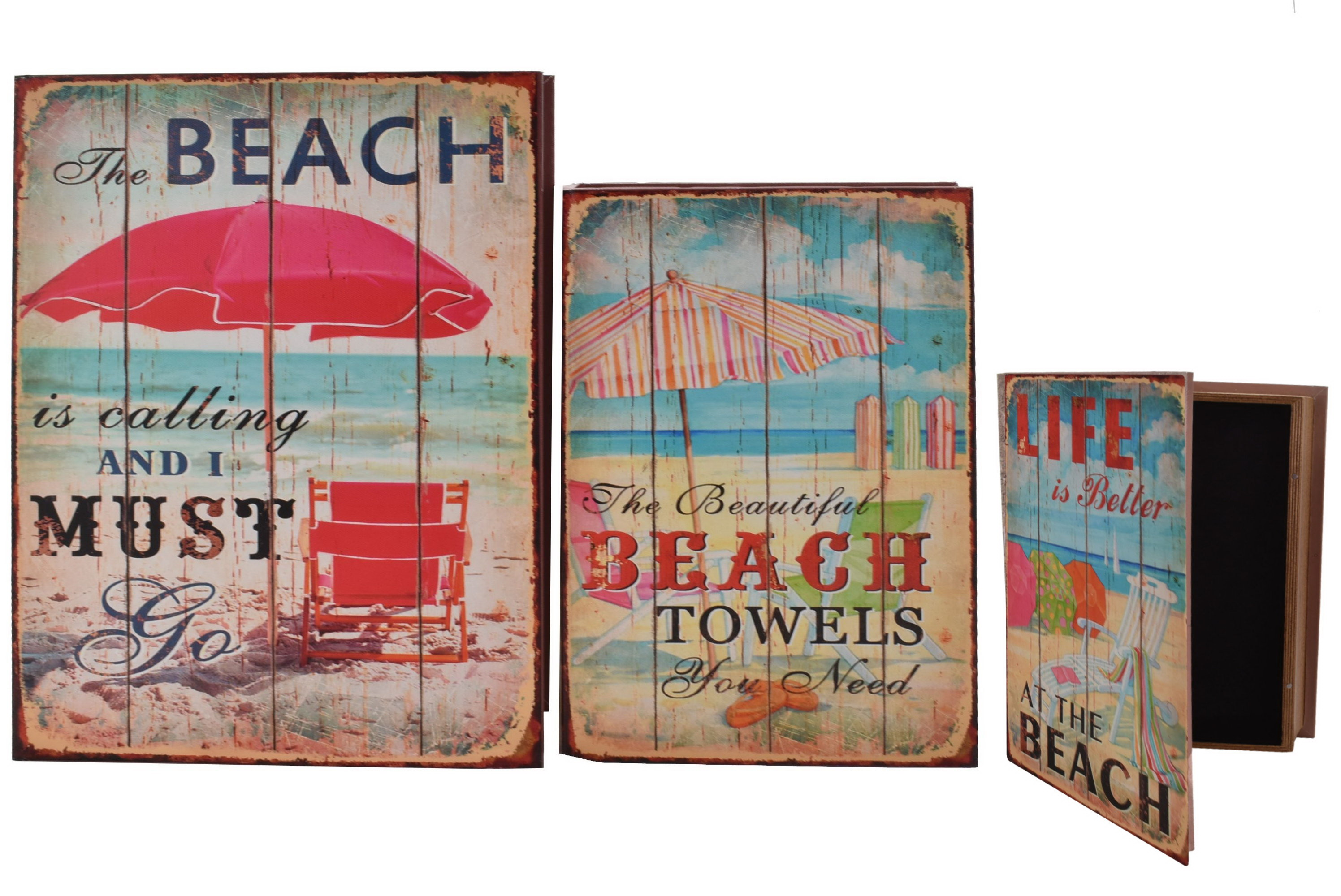 3 In 1 Storage Box Beach Scene