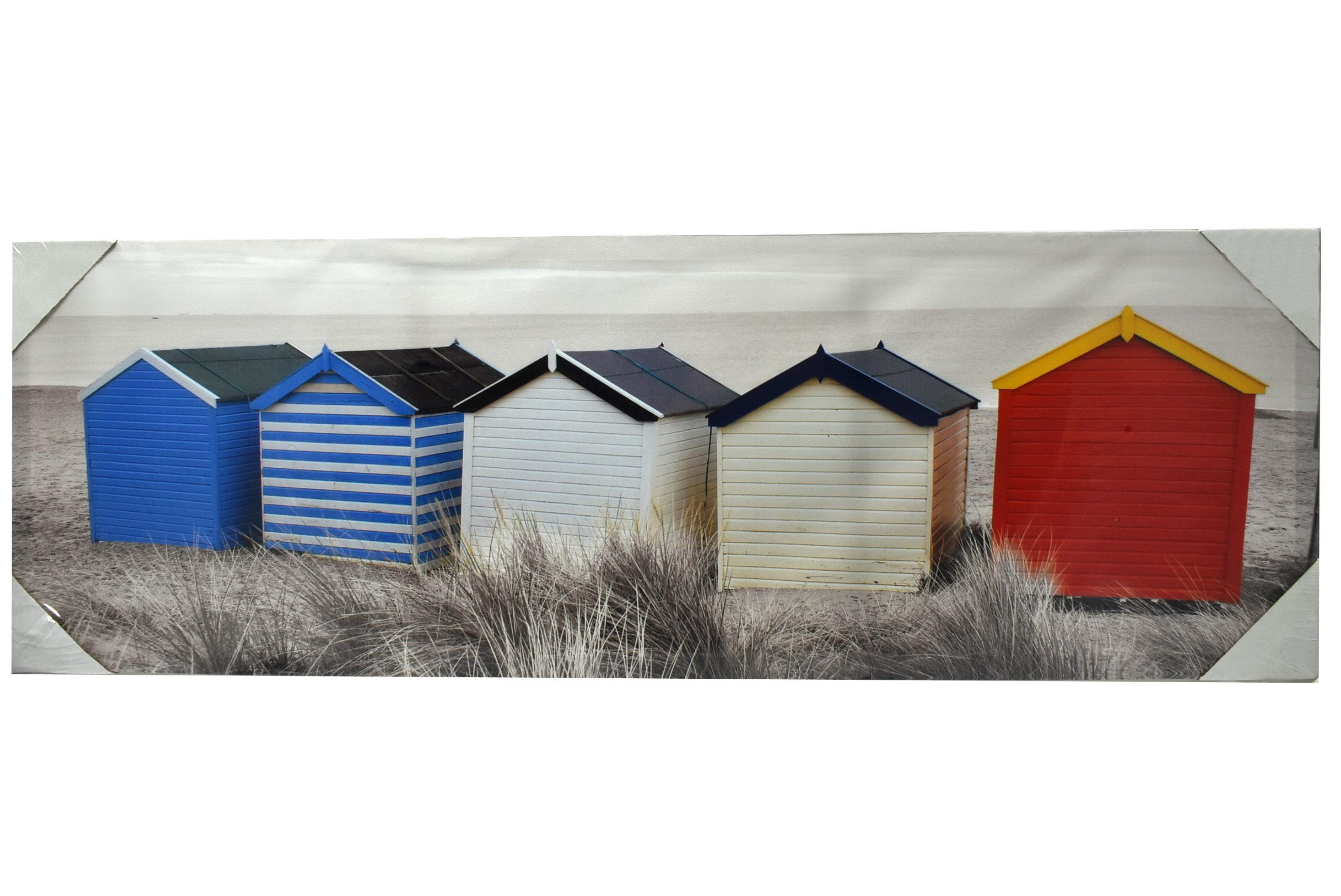 30 x 90cm Canvas Print Beach Hut