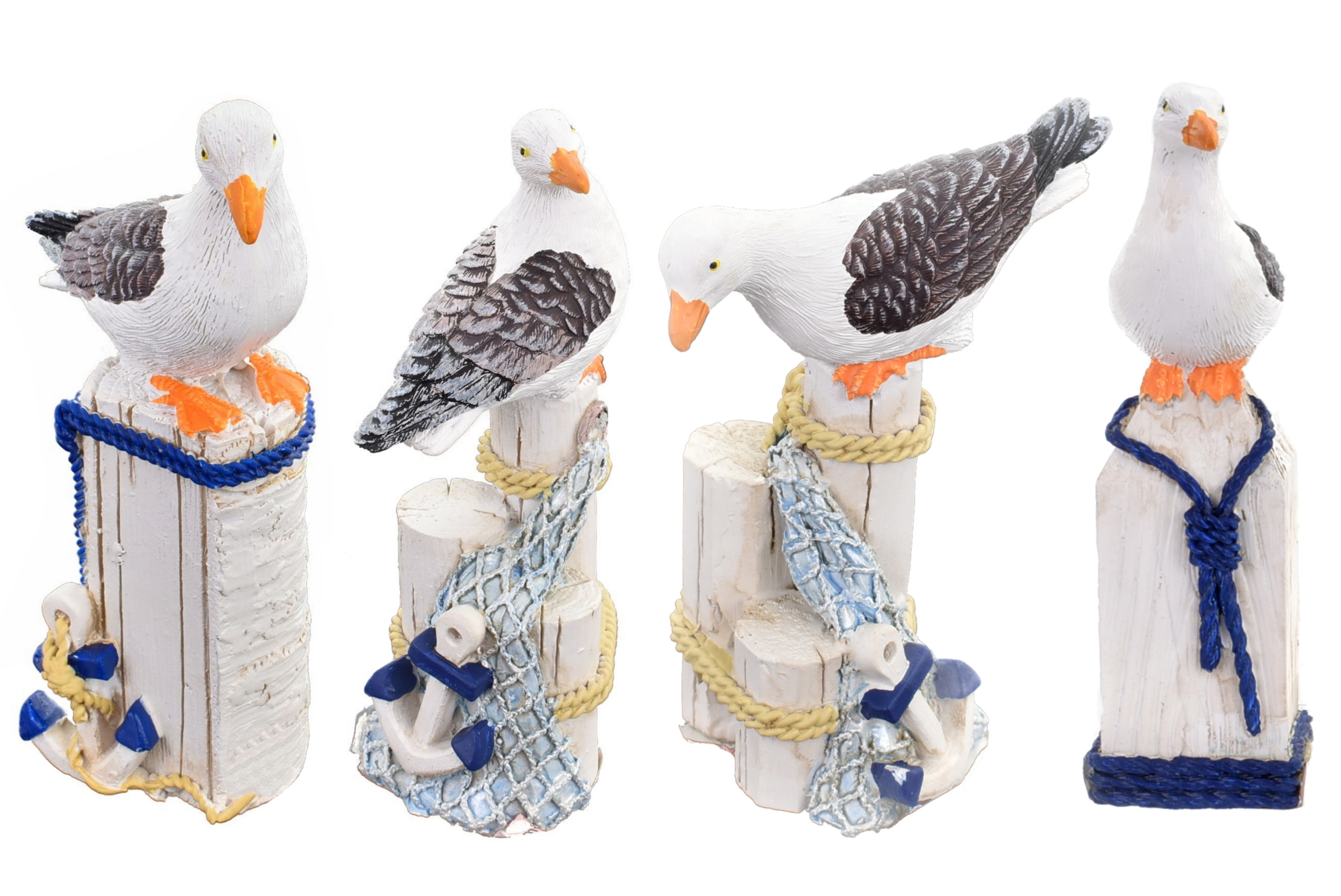 10cm Resin Seagull Figurine 4 Assorted