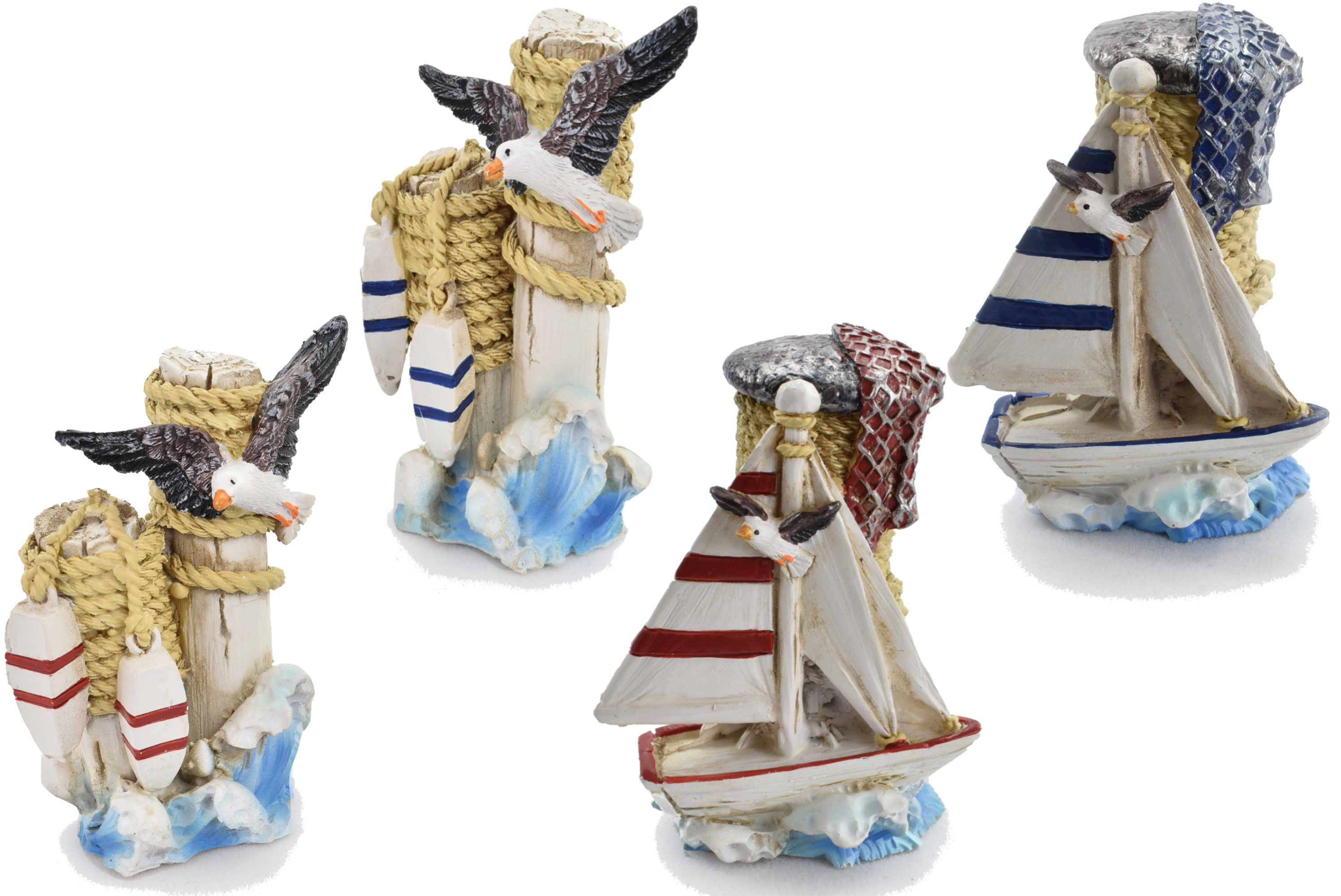 5cm Resin Nautical Style Decoration 4 Assorted