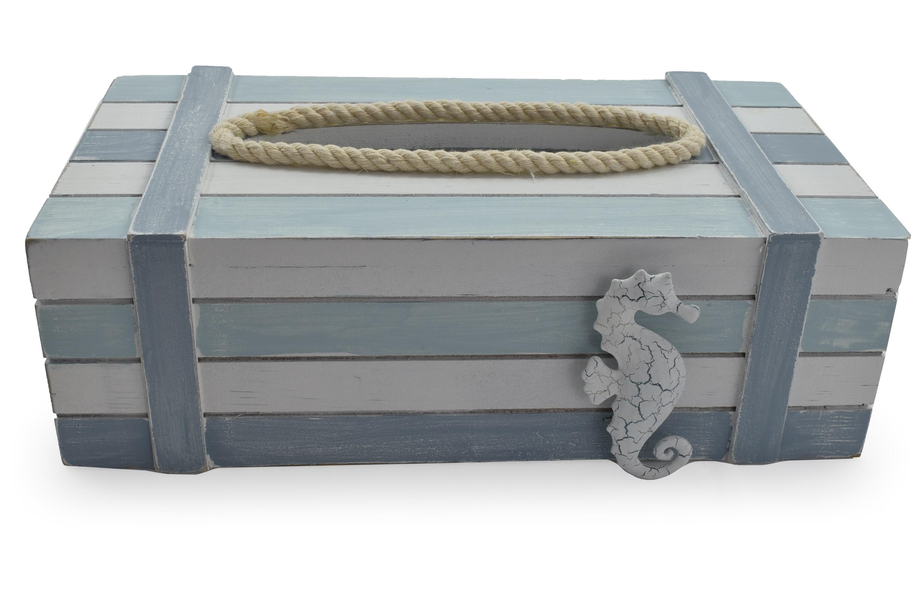 25.5cm Wooden Tissue Box