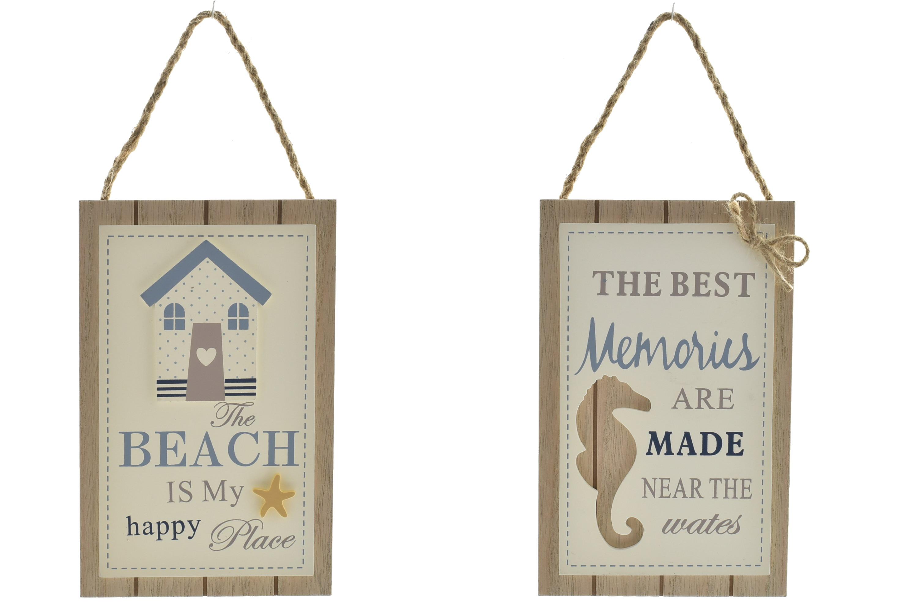 Nautical Wood Hanger 2 Assorted