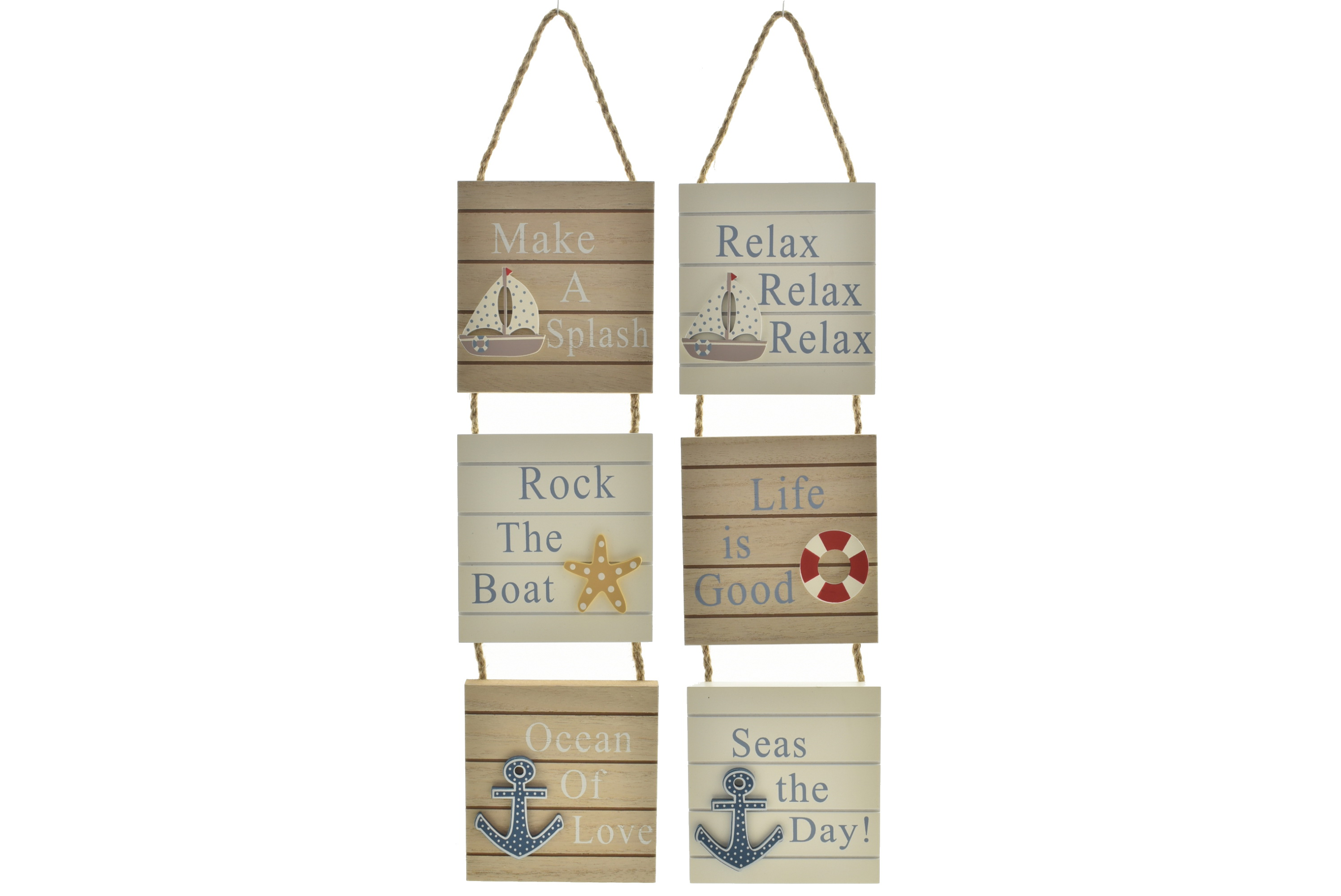 Natural 3 Piece Hanging Sign 2 Assorted
