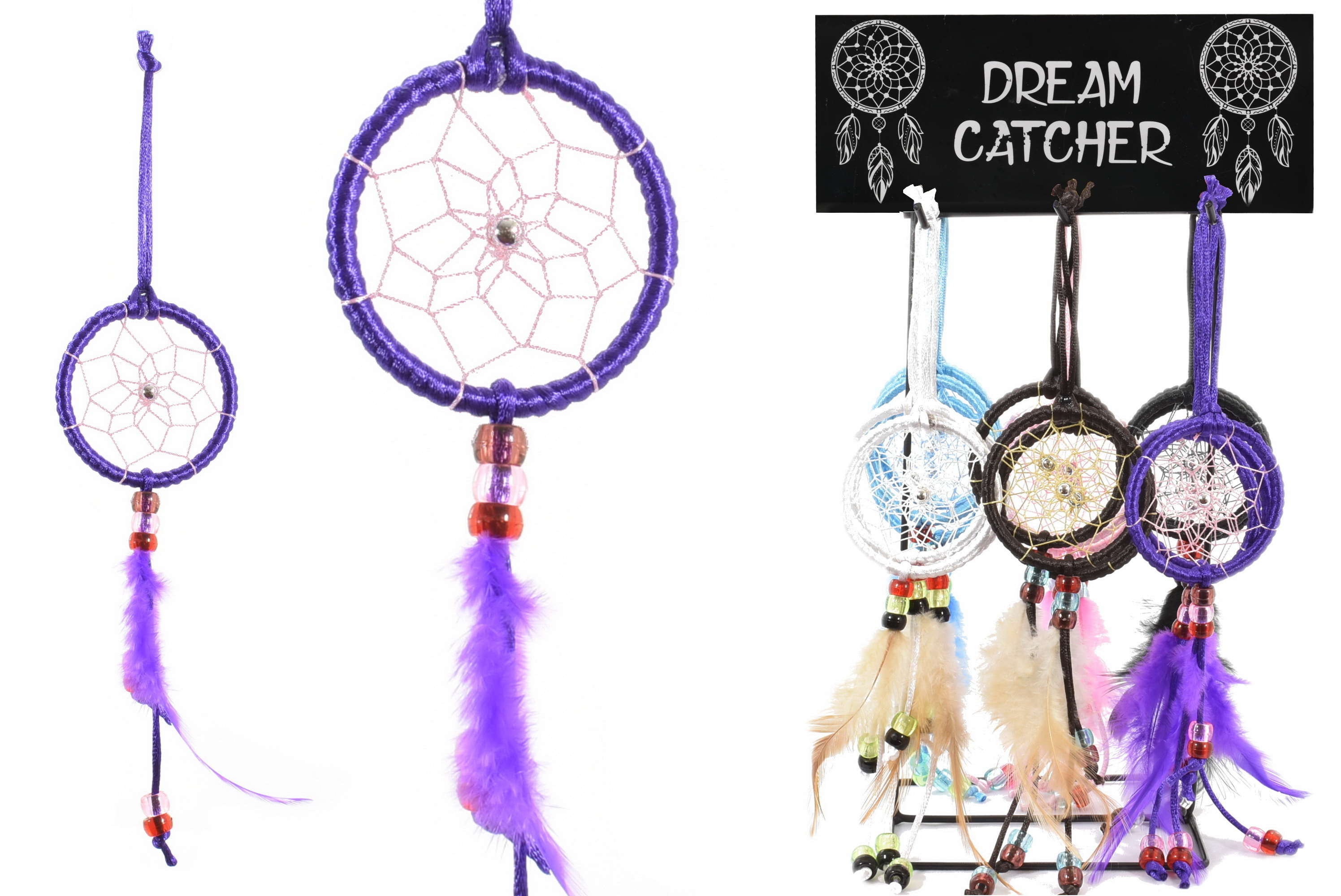 "2"" Dream Catcher On Metal Display Stand"