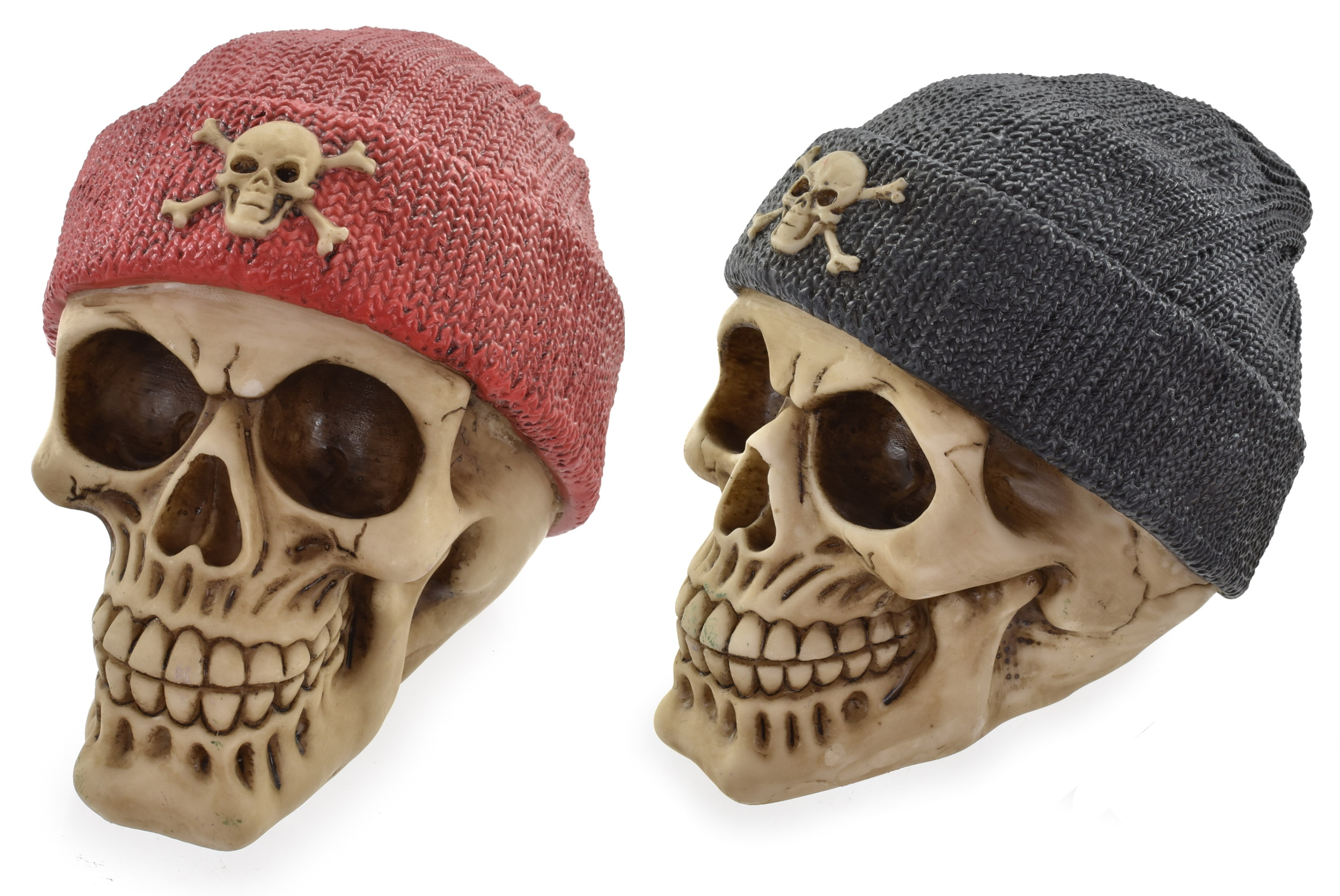 10cm Skull Beanie Hat 4 Assorted Colours