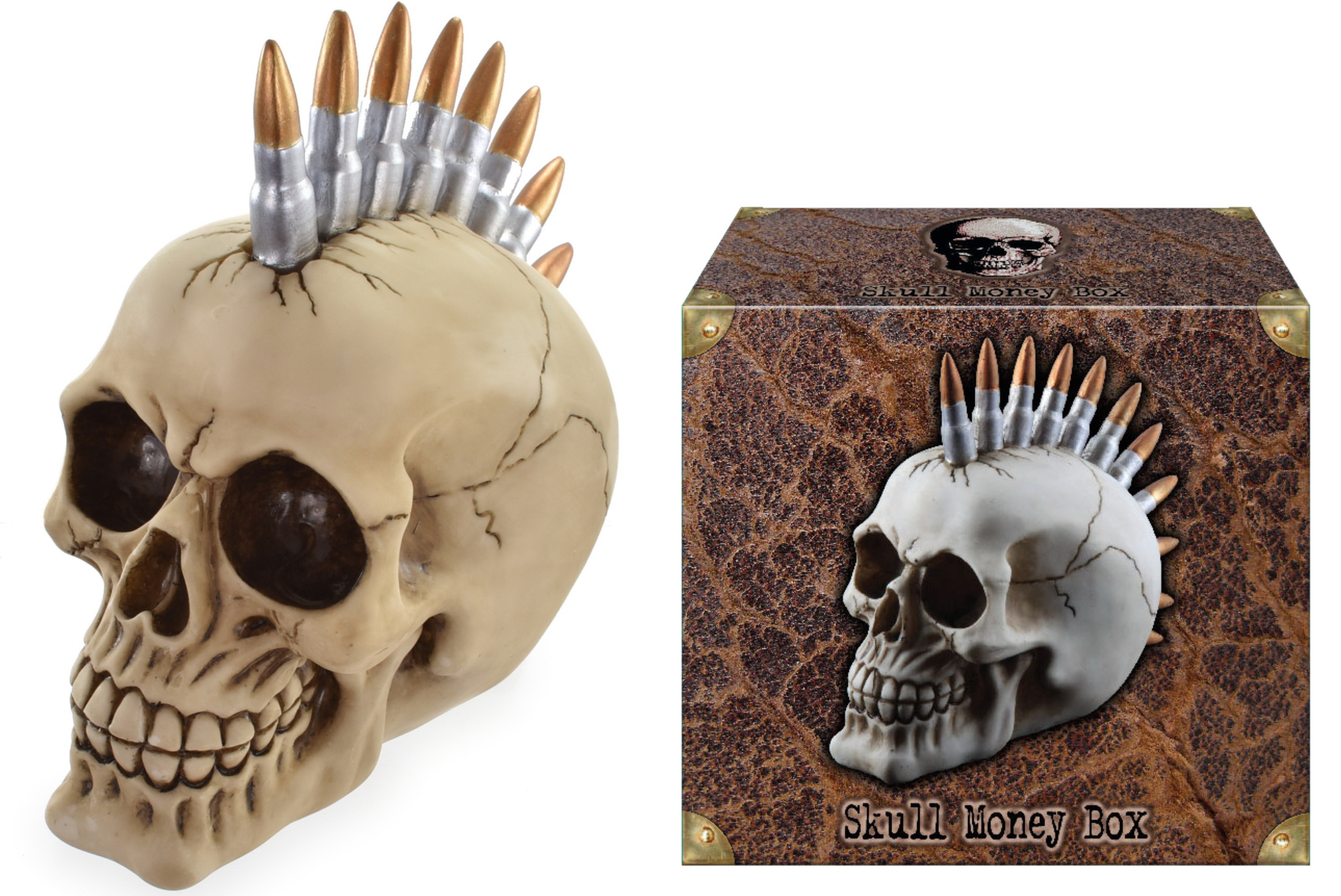 Bullet Head Skull Money Box