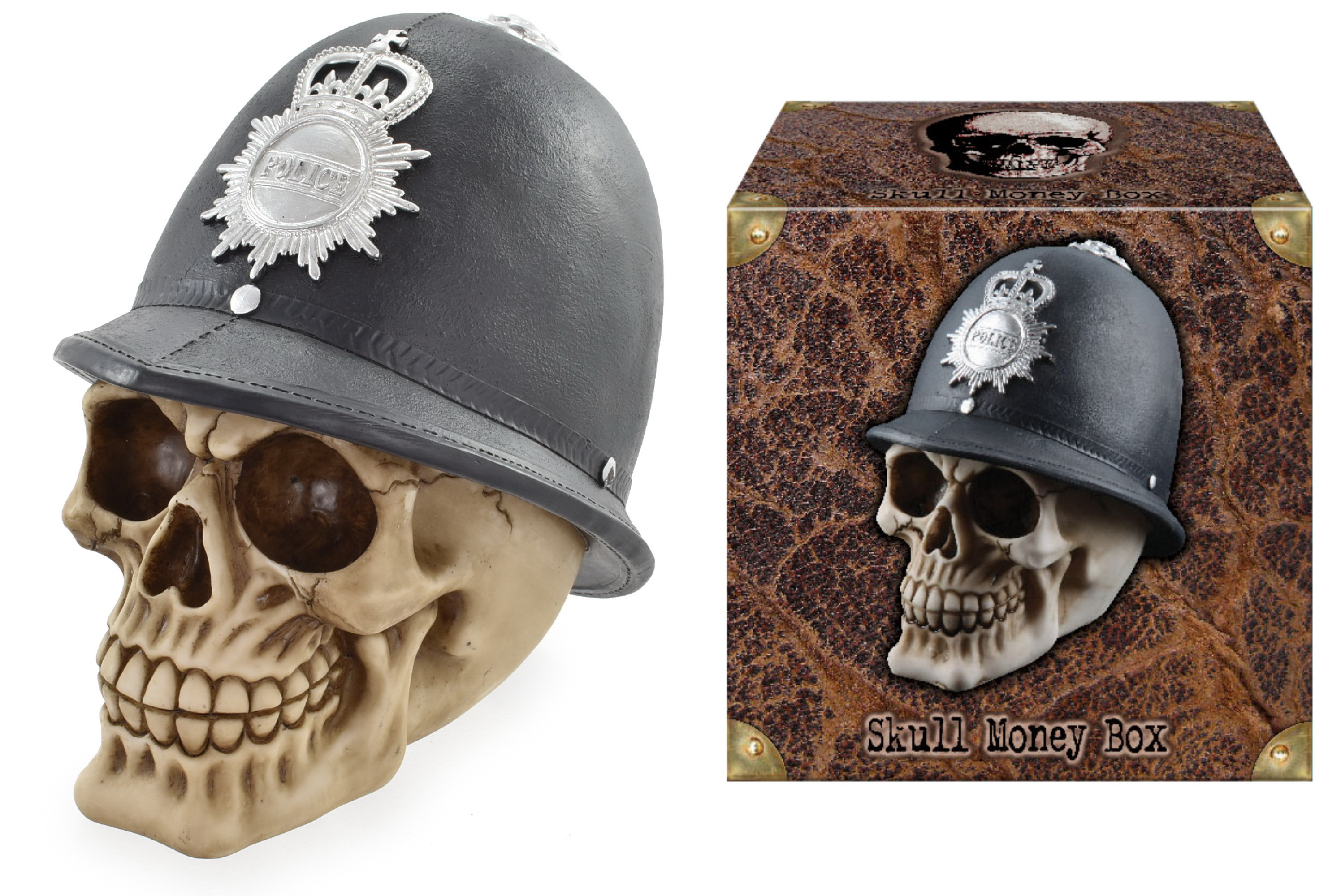 Police Skull Money Box