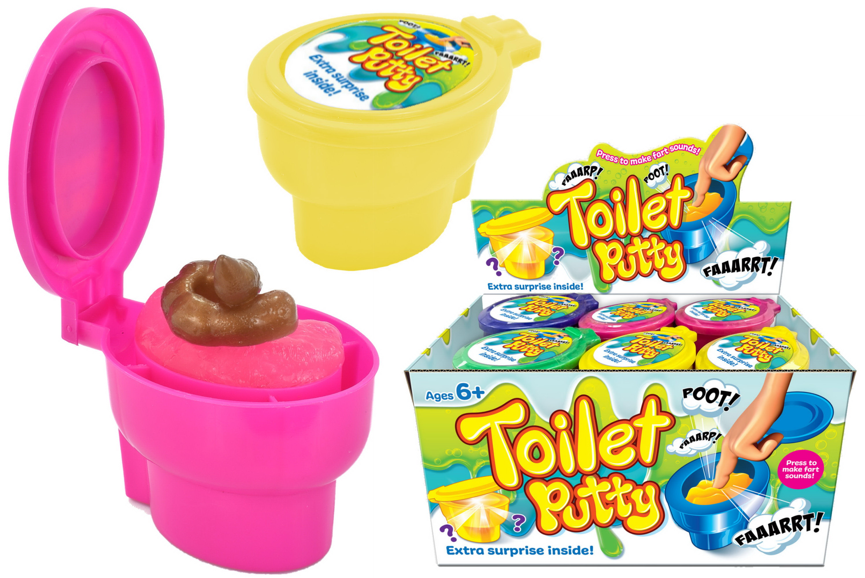Toilet Putty (+ Surprise) In Display Box - Fart Family