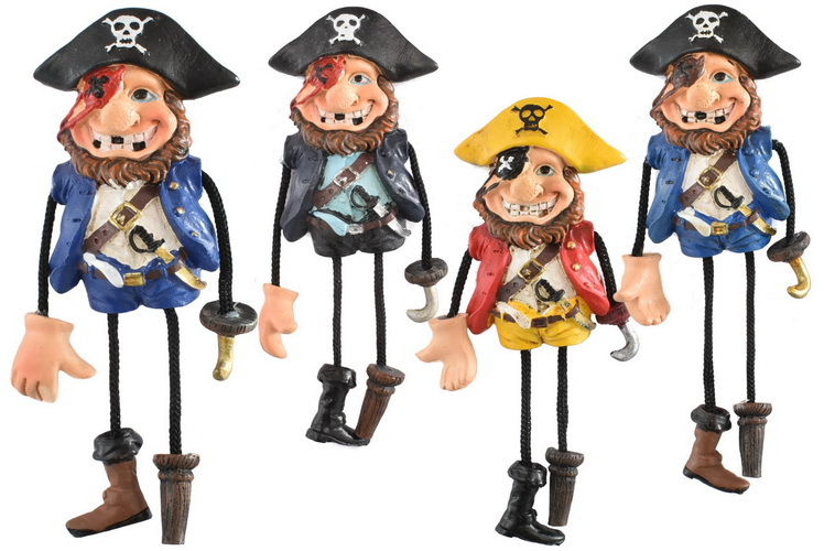 Pirate Man Dangle Magnet 4 Assorted Designs