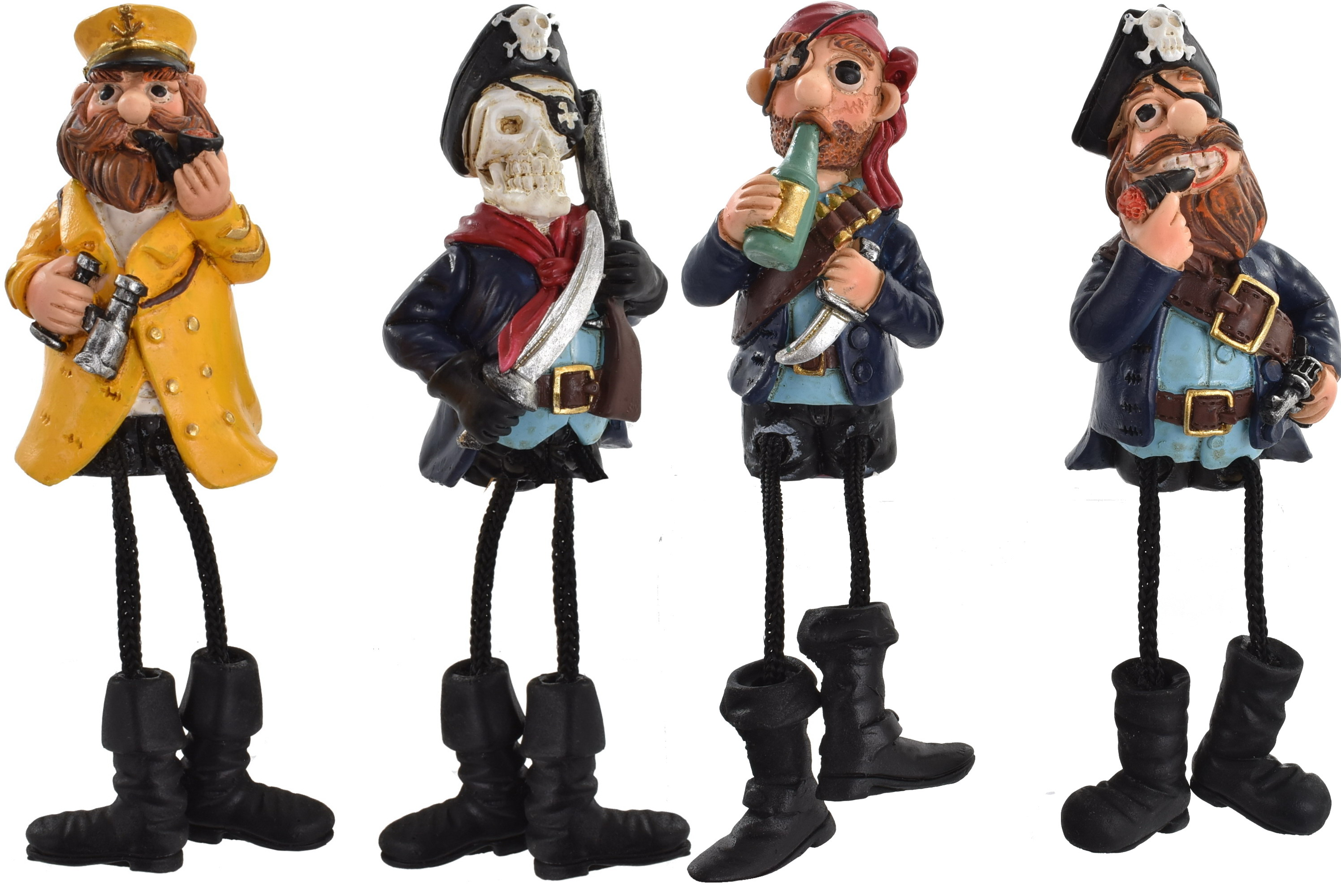 Pirate Shelf Hanger Dangle Legs 4 Assorted