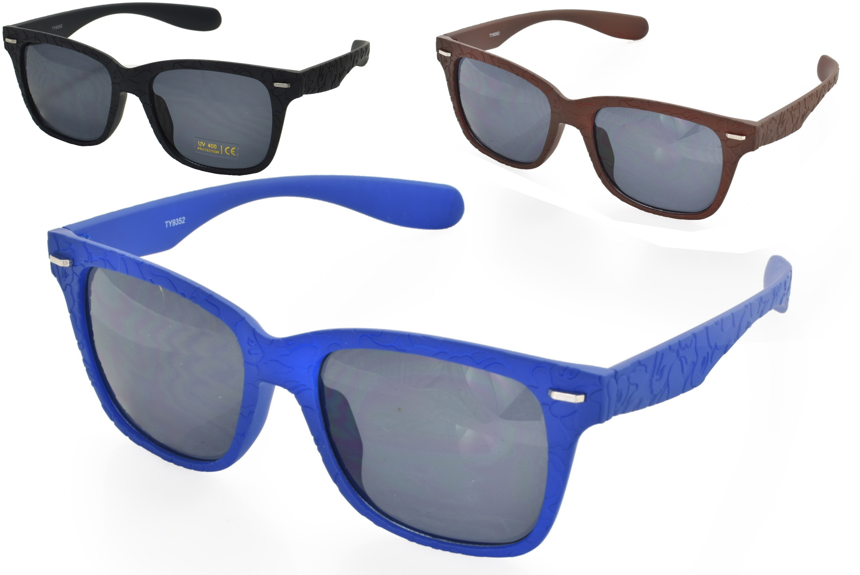 Adults Plastic Wayfarer Sunglasses - 4 Assorted