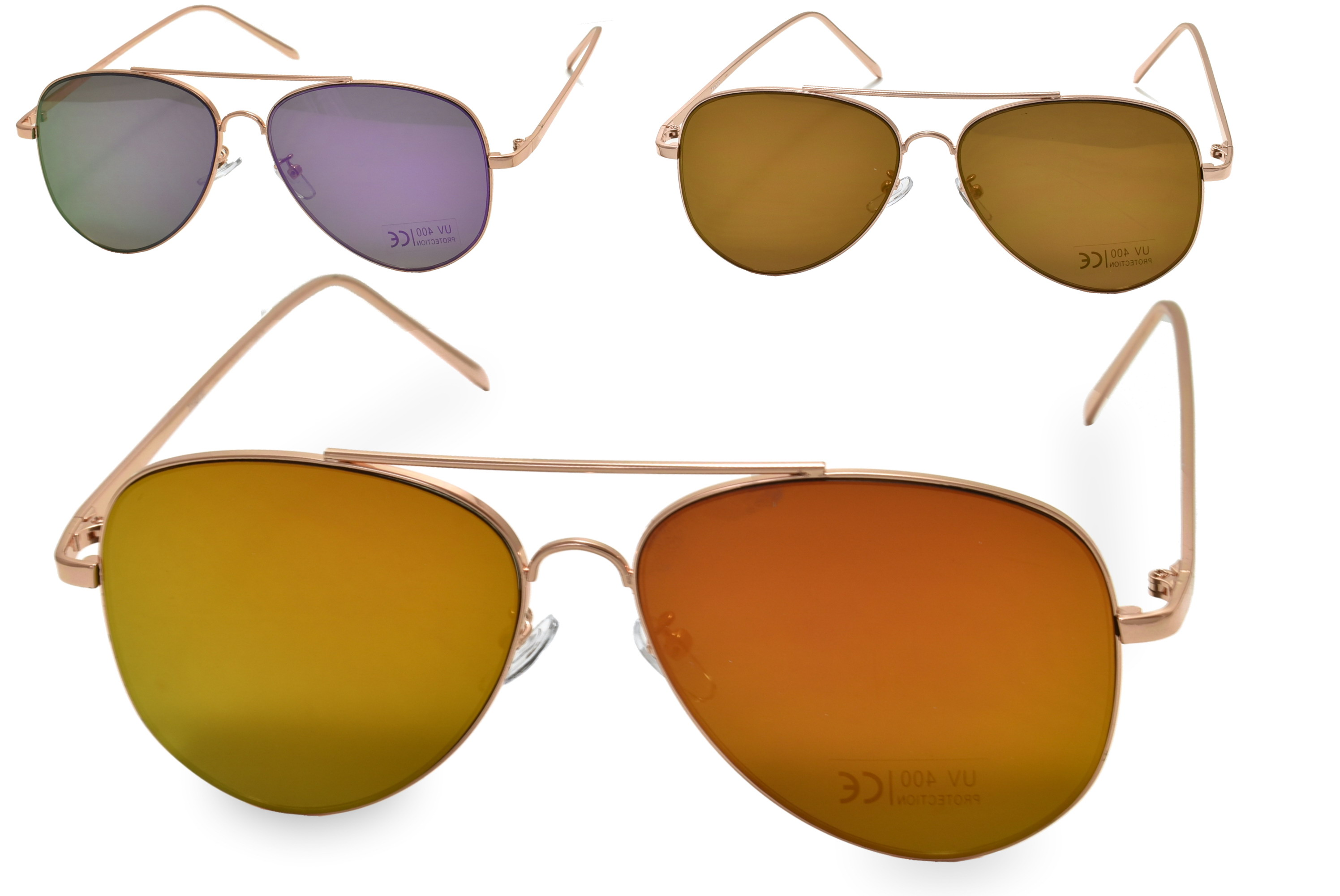 Adults Metal Frame Sunglasses - 4 Assorted