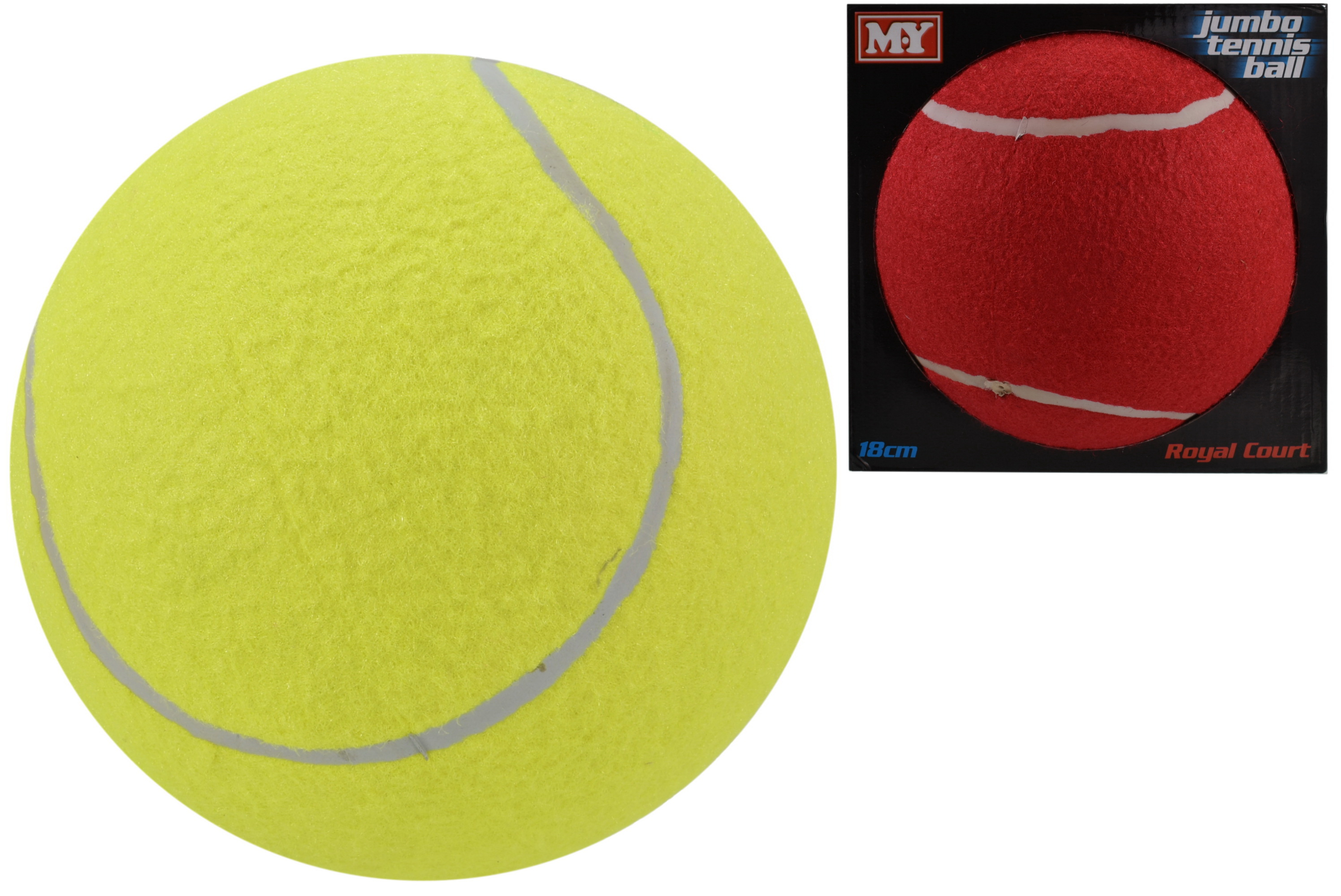 "Jumbo 7"" Tennis Ball In Touch Box ""M.Y"" 2 Asst Cols"