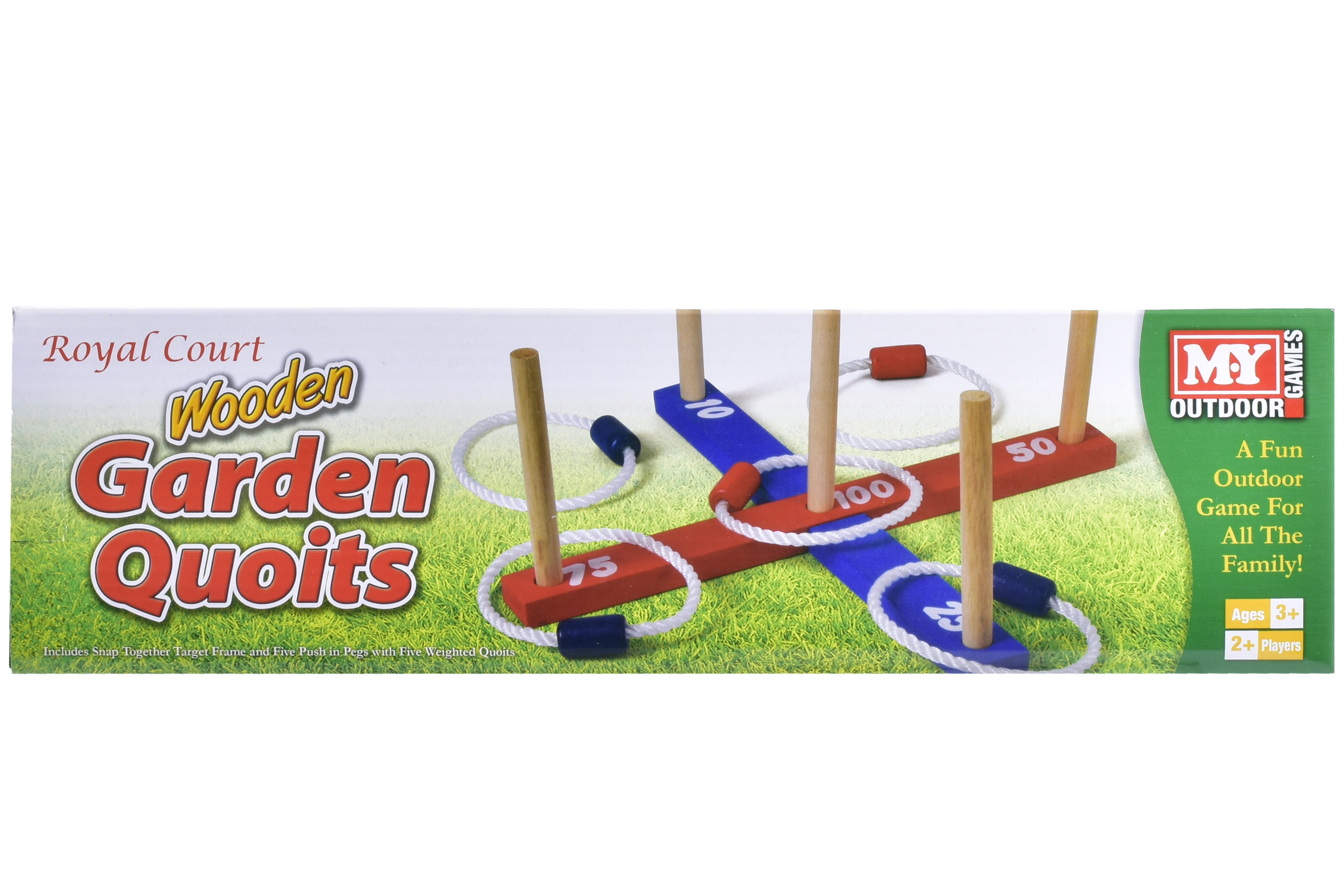 "Wooden Garden Quoits In Colour Box ""M.Y"""