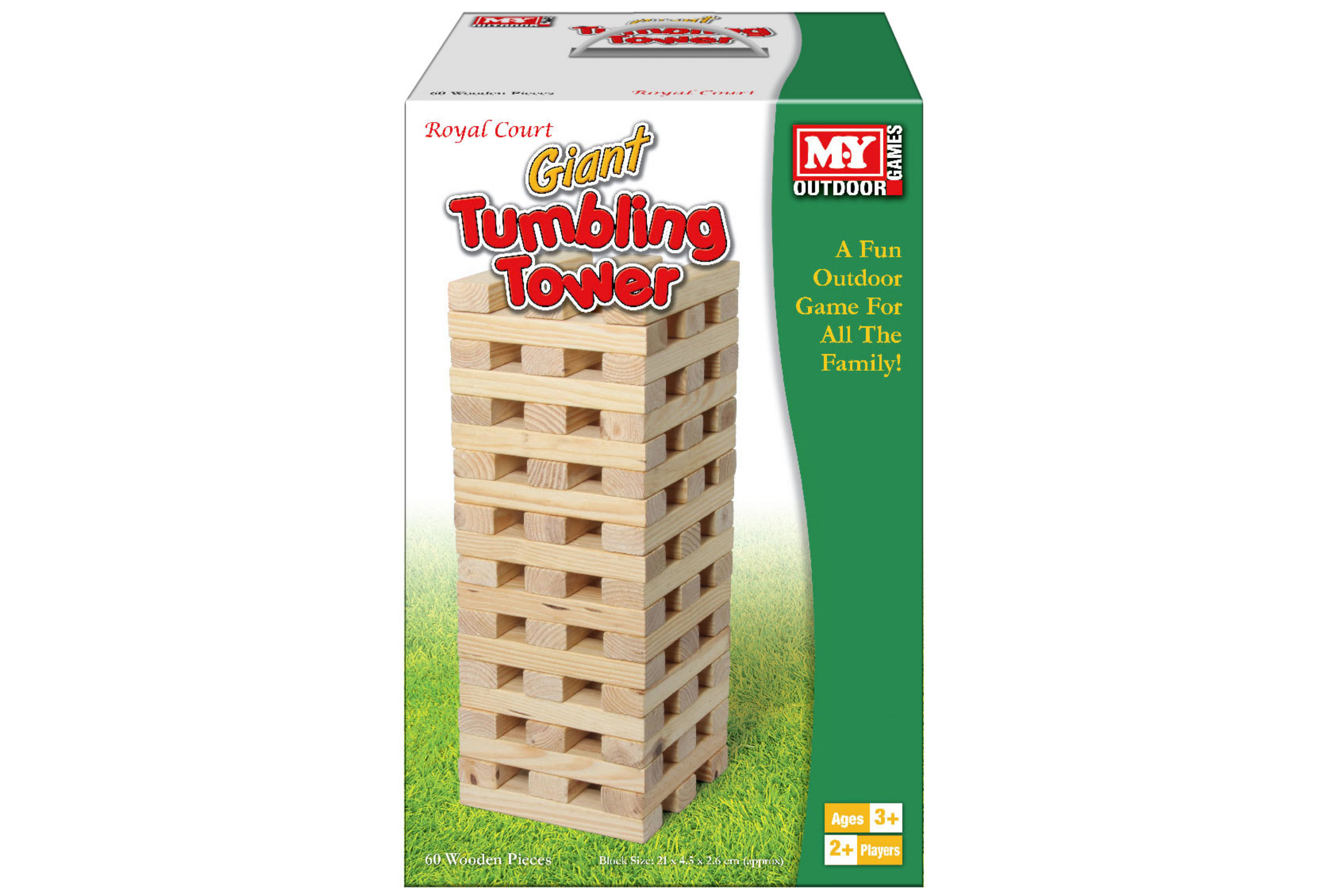 "60pc Giant Wooden Tumbling Tower In Colour Box ""M.Y"""