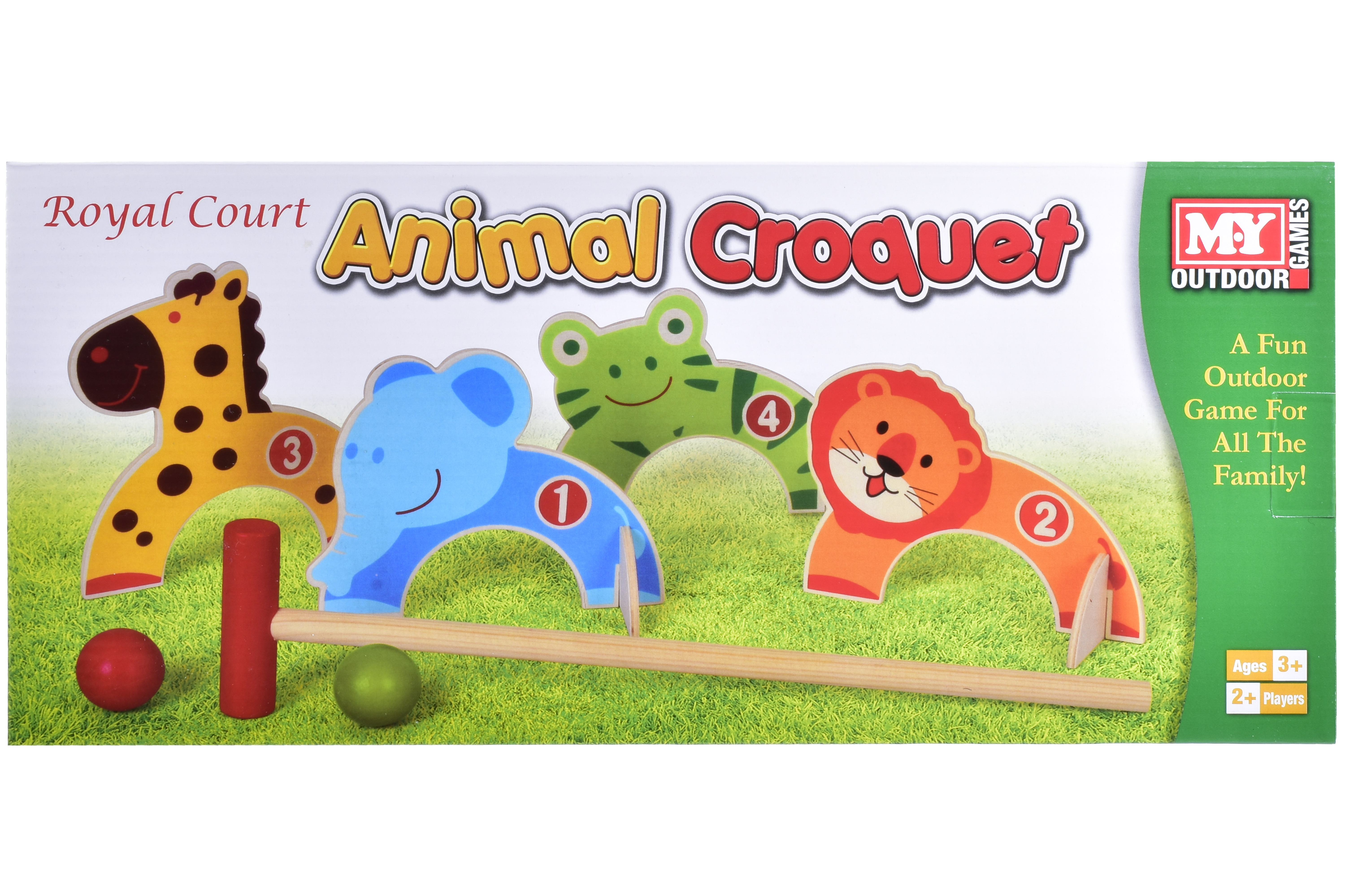 "Animal Croquet Game In Colour Box ""M.Y"""