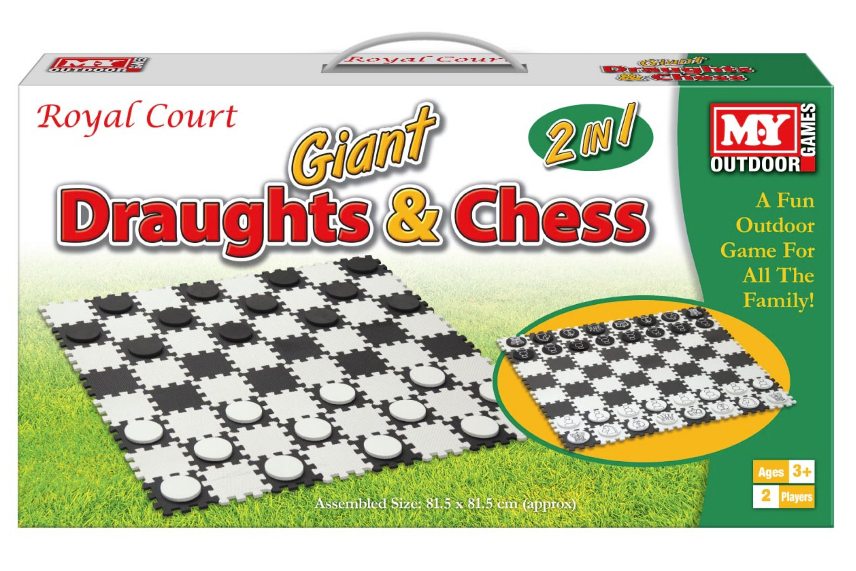 "Giant Draughts & Chess 2-In-1 Game In Colour Box ""M.Y"""