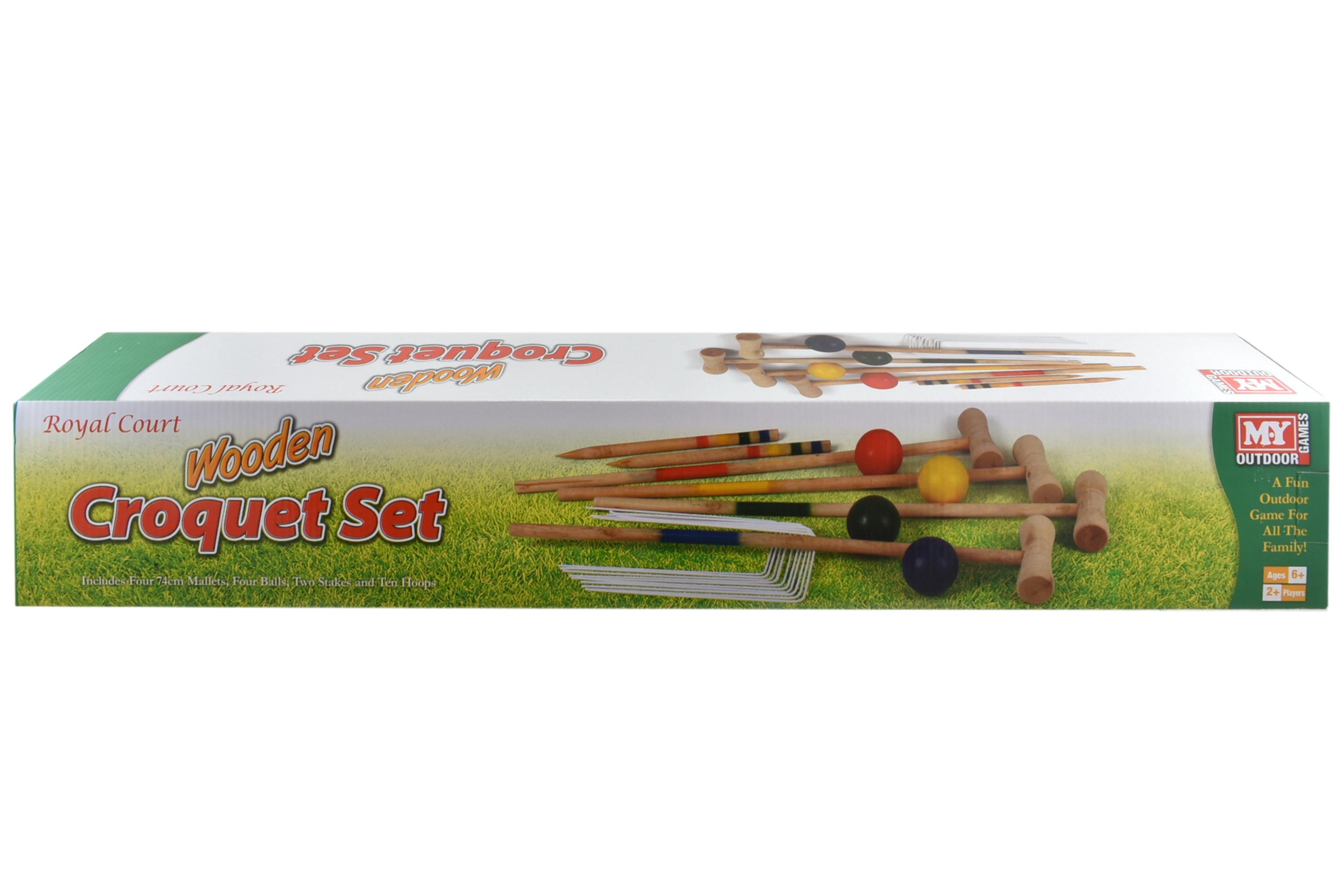 """Wooden Large Croquet Set In Colour Box """"M.Y"""""""