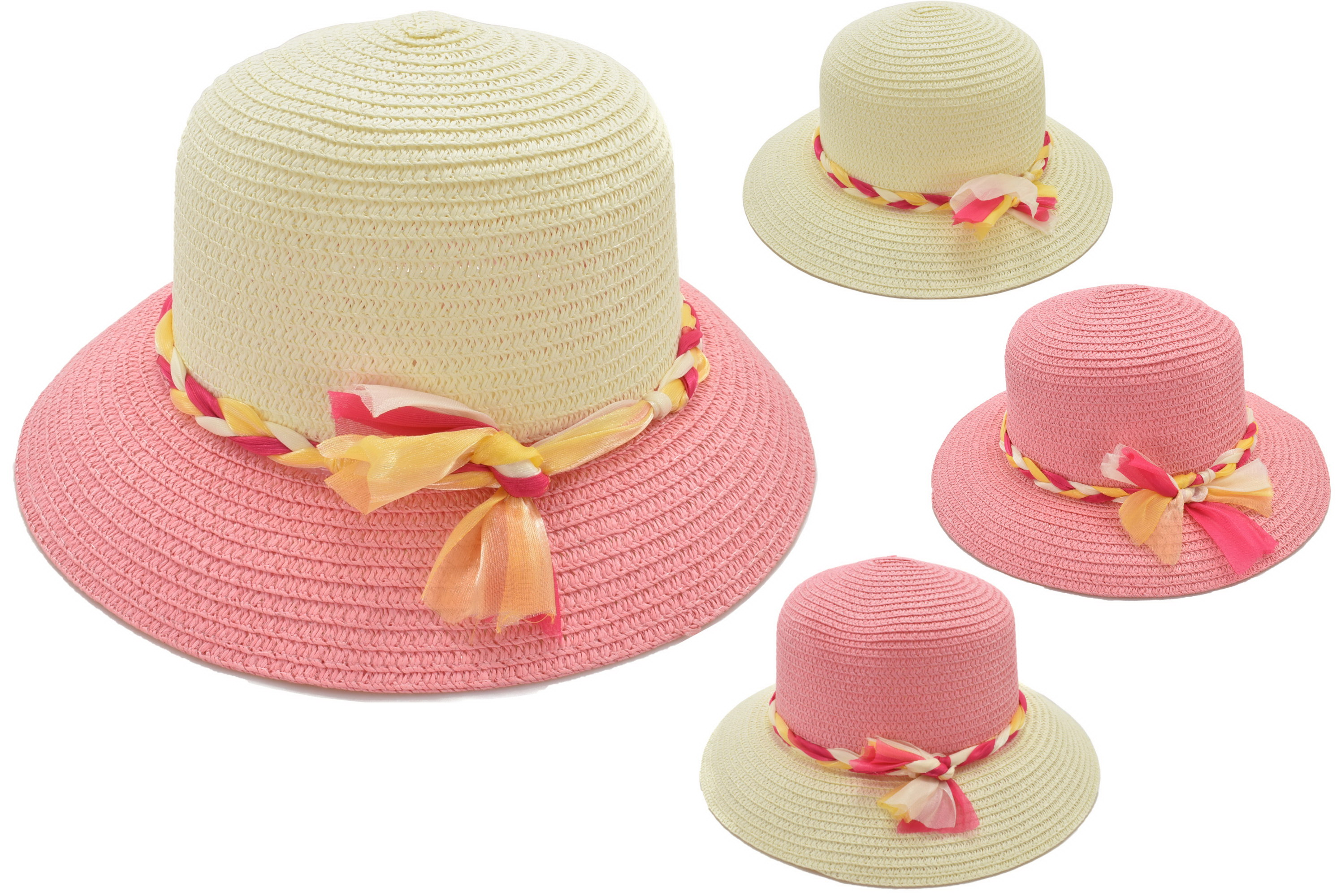 Ladies Fashion Hat Twisted Bow 4 Assorted Colours