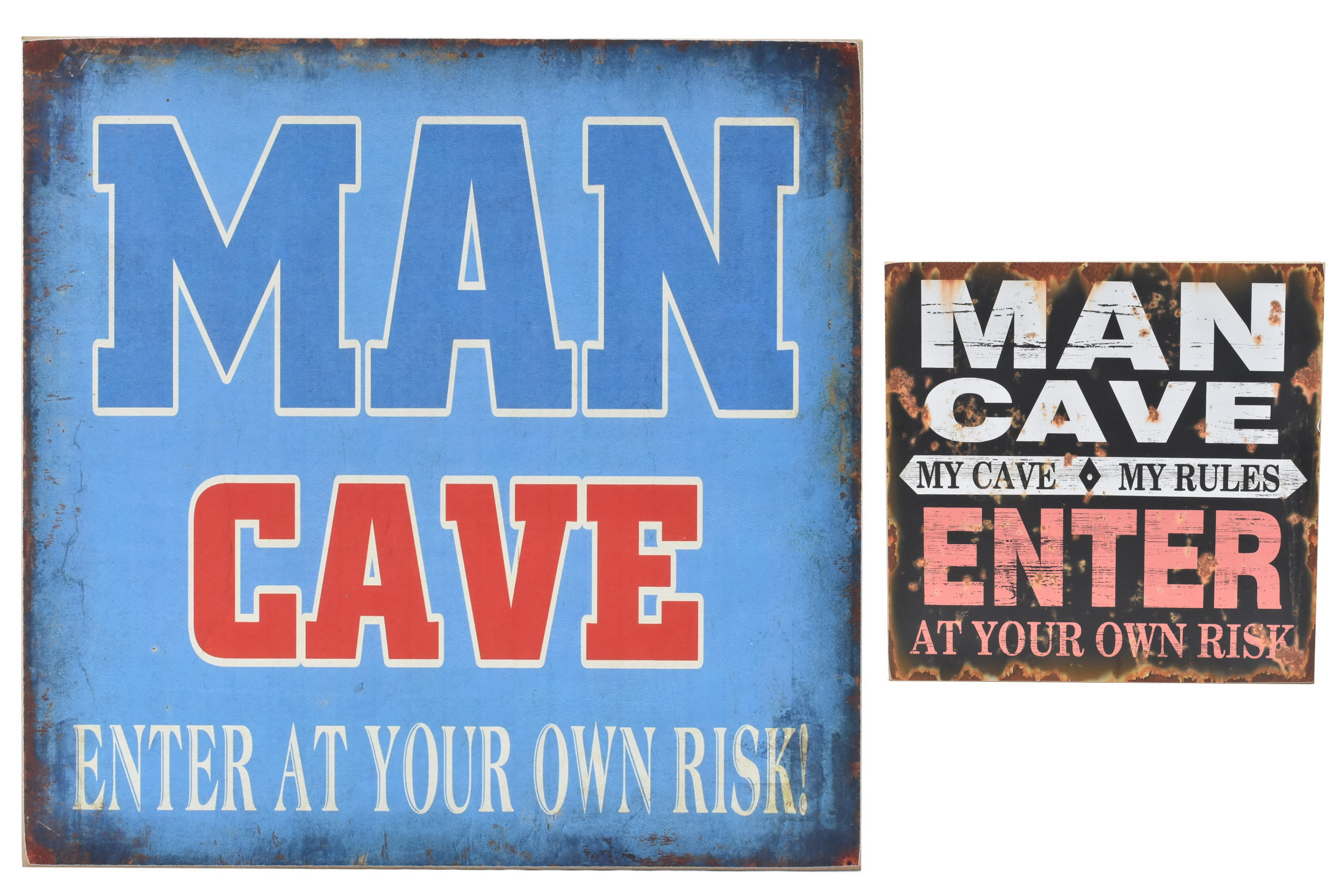 30 x 30cm Wood Sign Man Cave 2 Assorted Designs