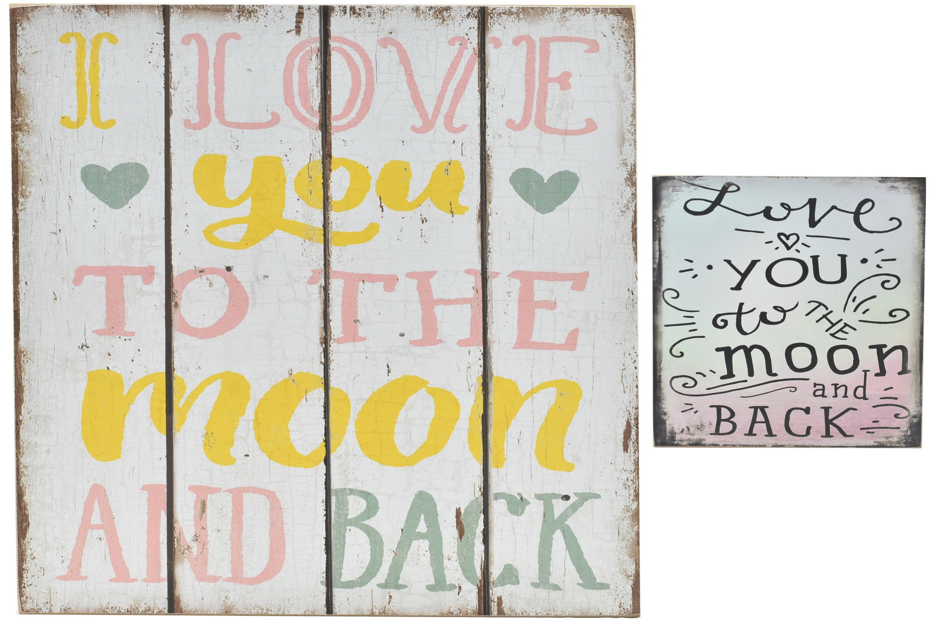 30 x 30cm Wood Sign Moon & Back 2 Assorted Designs