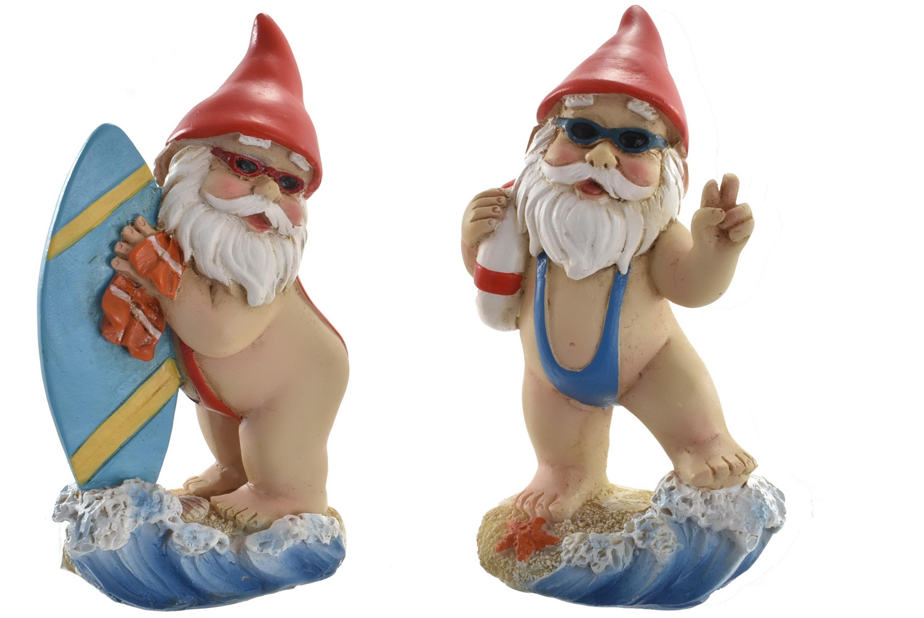 8cm Beach Gnome 2 Assorted Designs