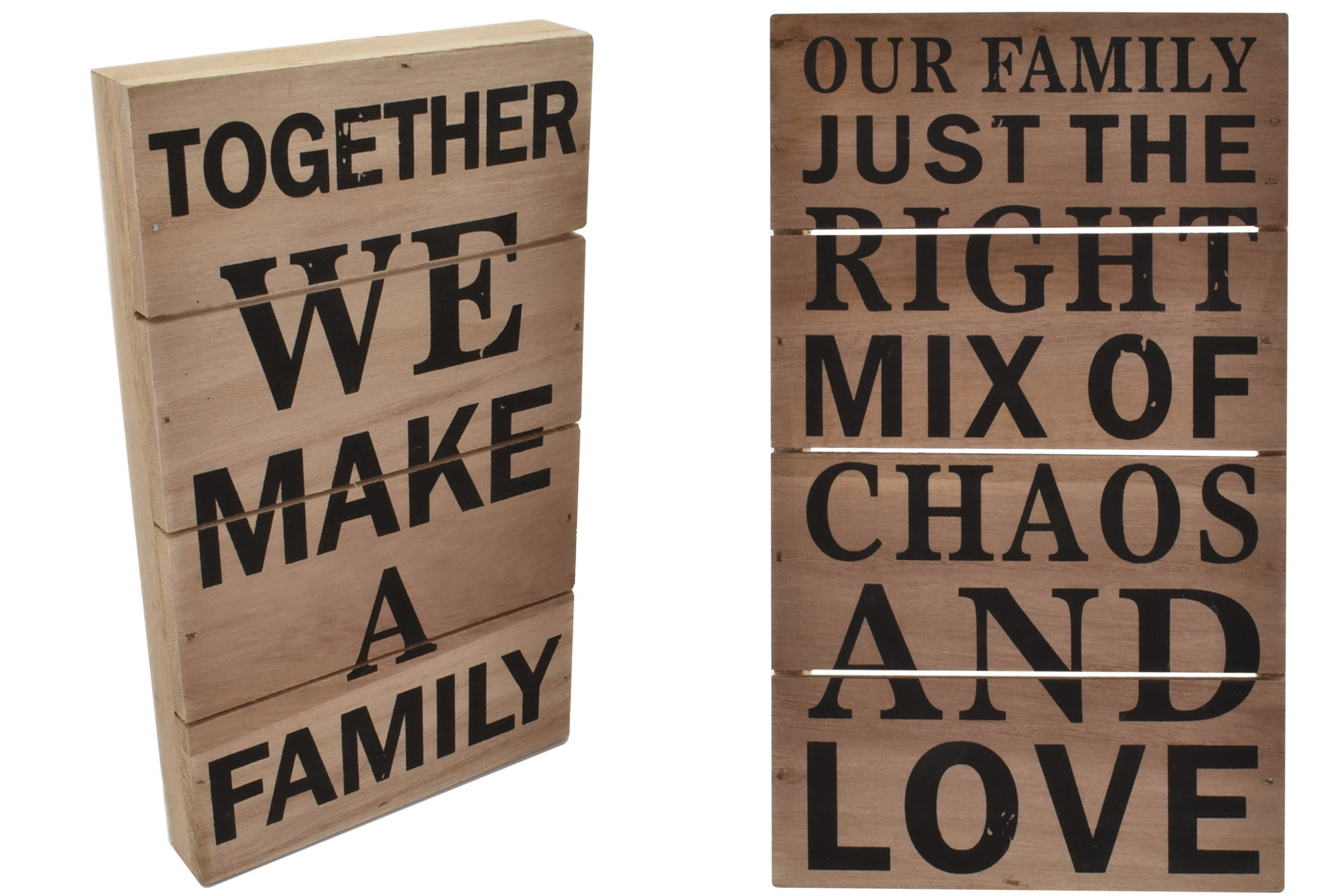 Wooden Box Sign 2 Assorted Designs