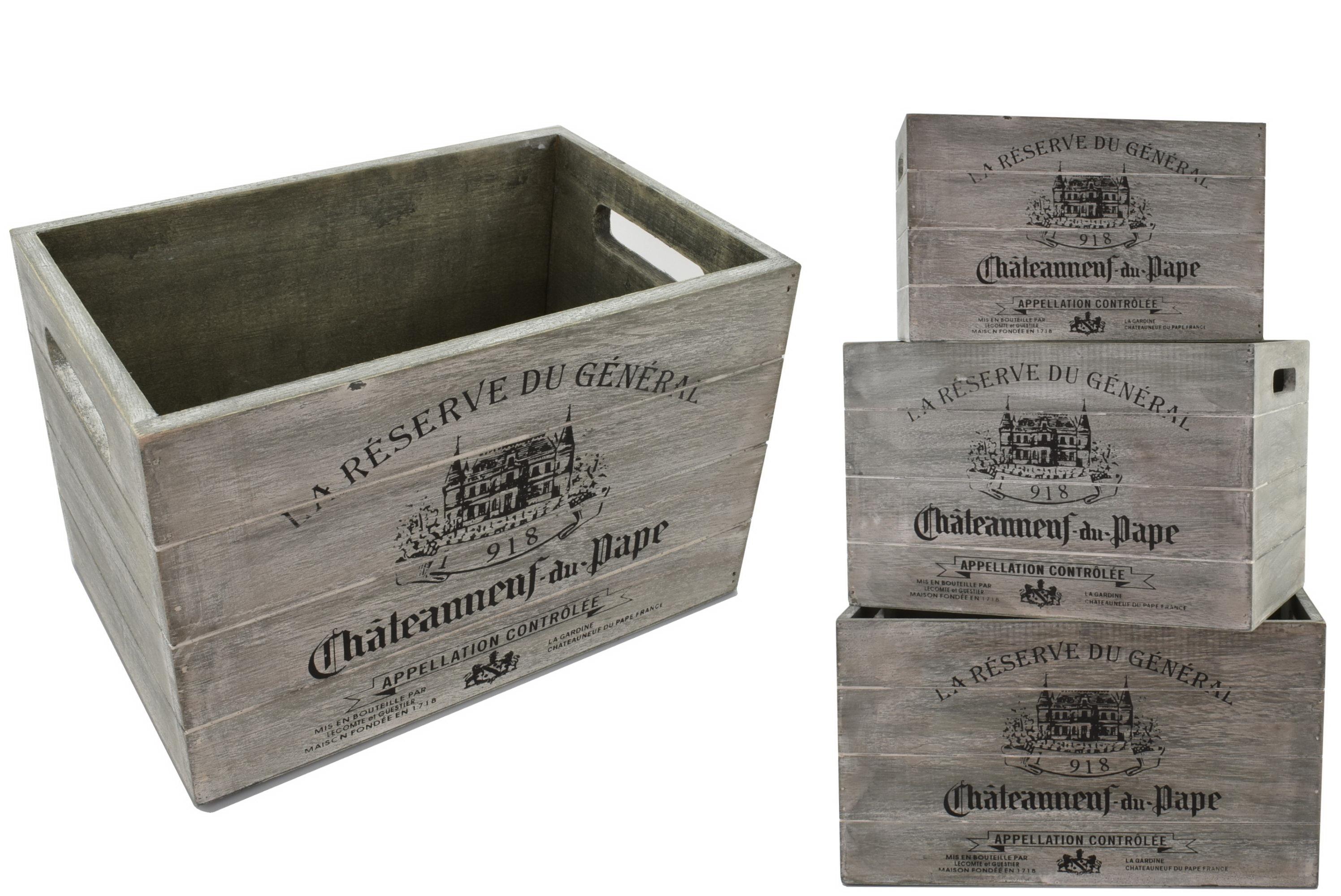 Wooden Vintage Storage Boxes - Set Of 3