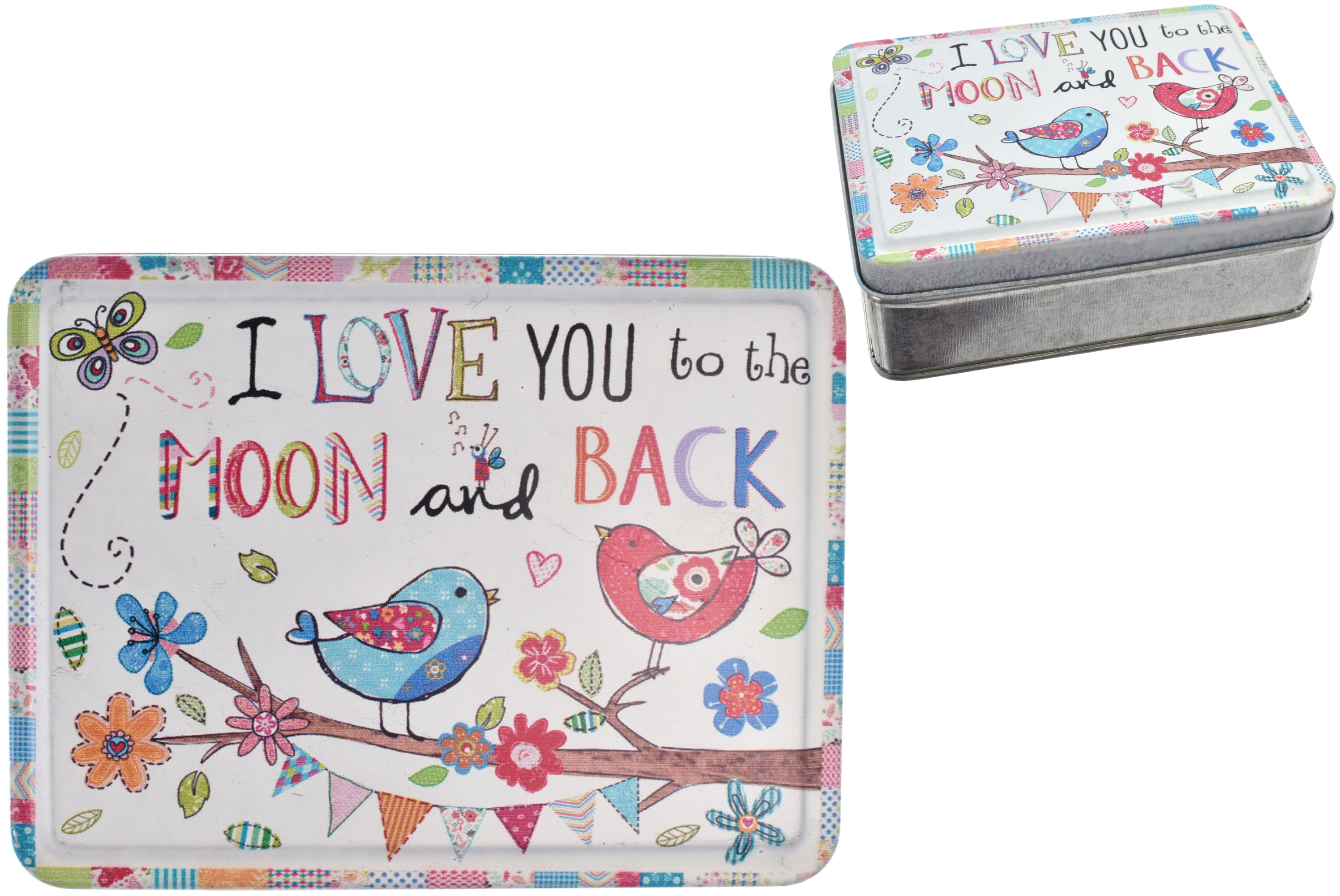 10cm Metal Storage Box Moon & Back Design