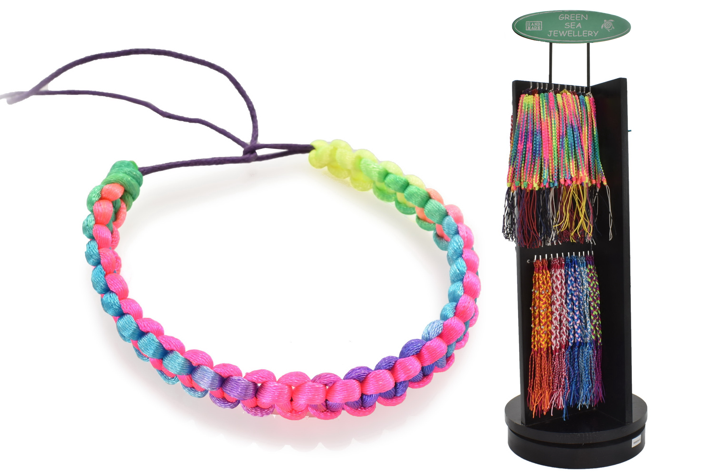 Friendship Bracelets On Counter Display Stand
