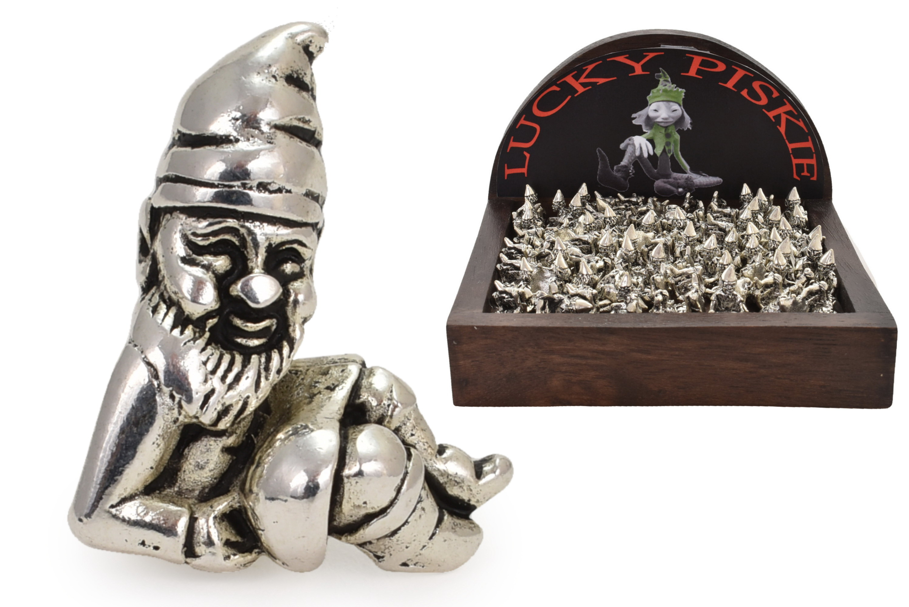 Lucky Piskie In Wooden Display Box
