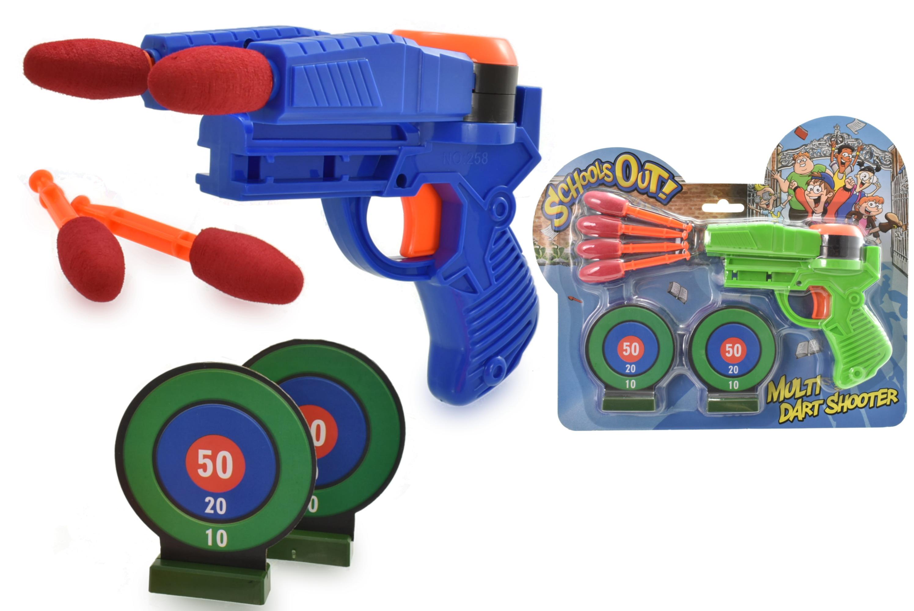 Dart Shooting Gun Playset On Blistercard