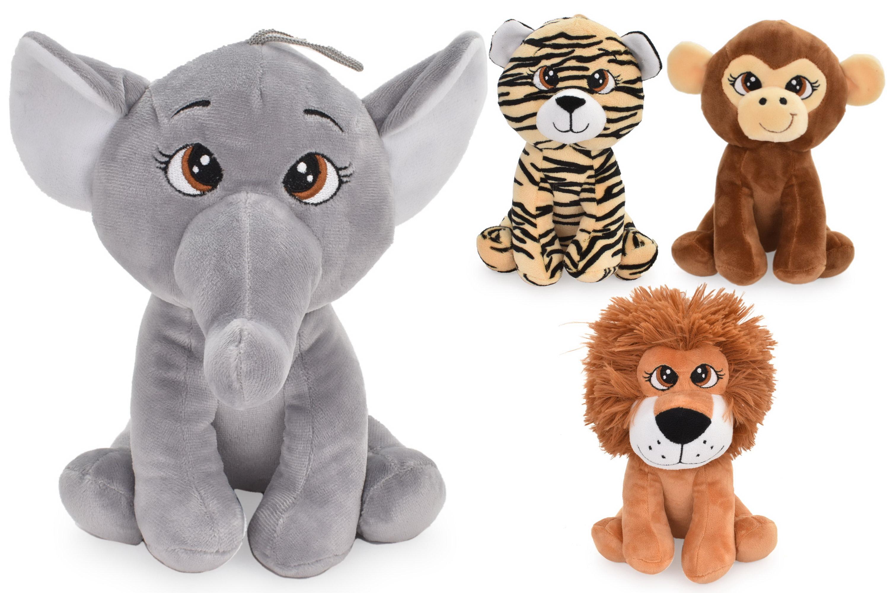 20cm Plush Wild Life Animals - 4 Assorted Designs
