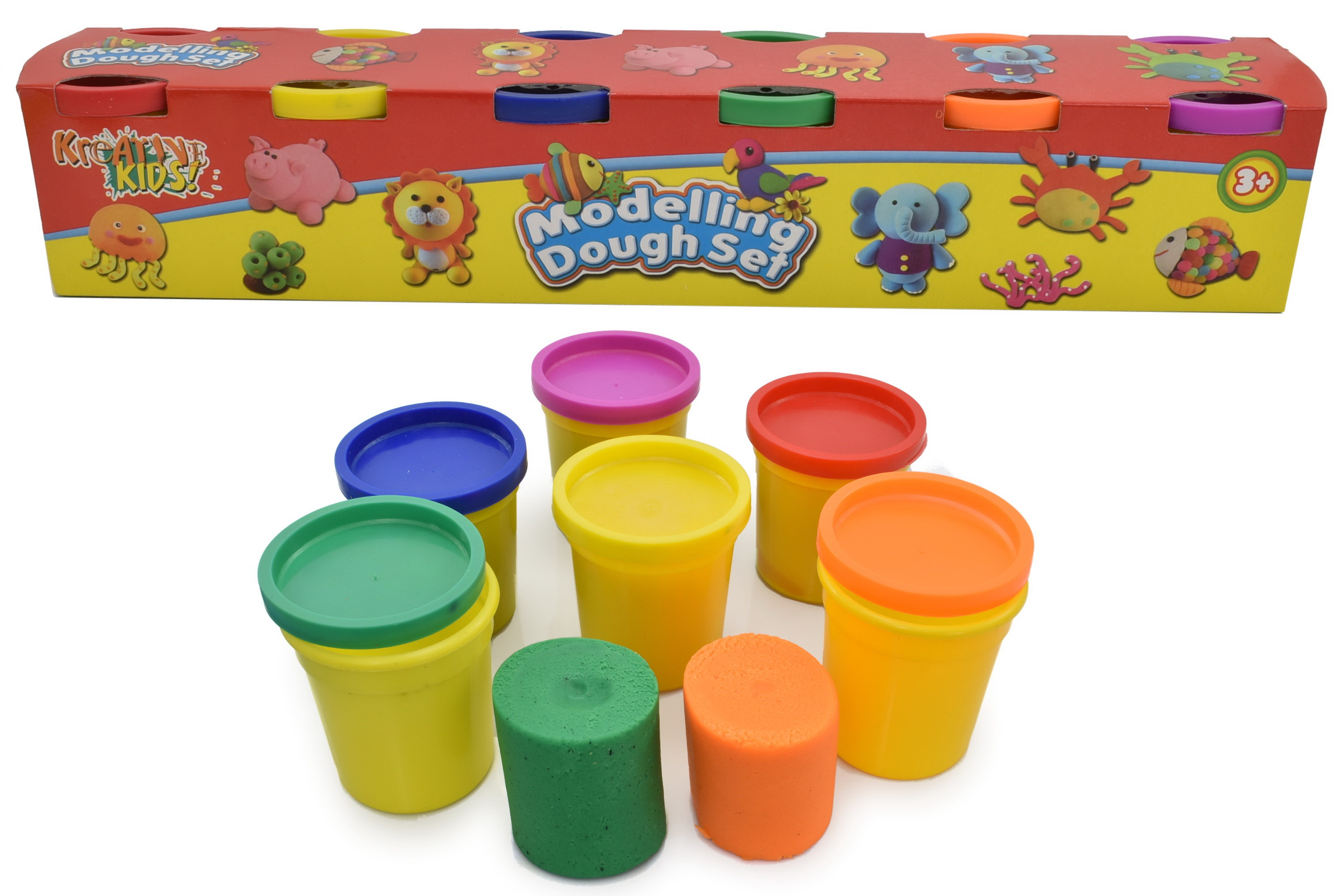 6 Pack Modelling Dough Tubs (3oz) In Colour Box