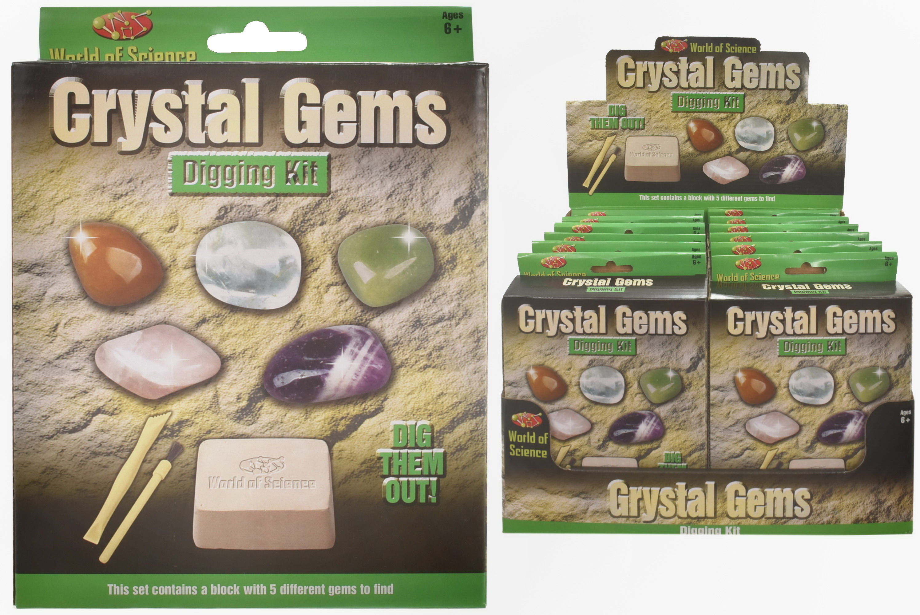 Gemstone Excavation Kit In Colour Box/Display Box