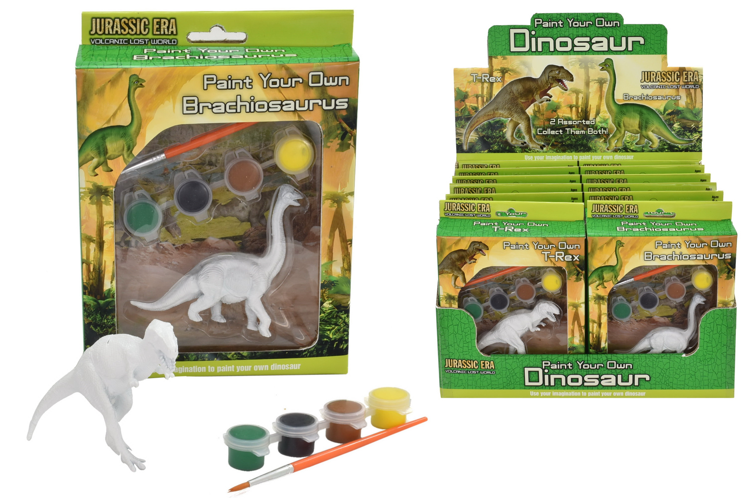 Paint Your Own Dinosaur 2 Assorted Kit In Colour Box/Db