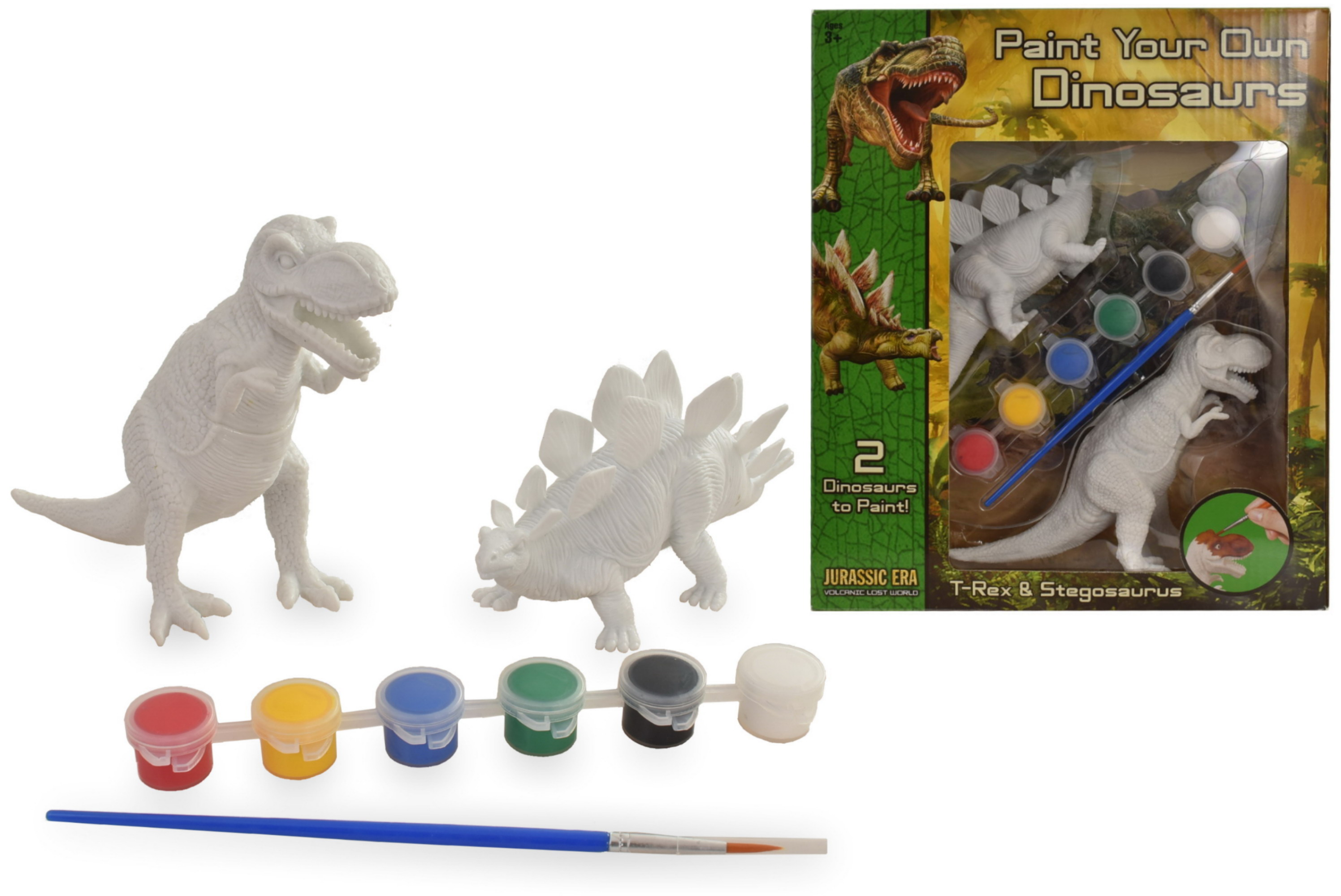 2pc Dinosaur Painting Set In Wbx