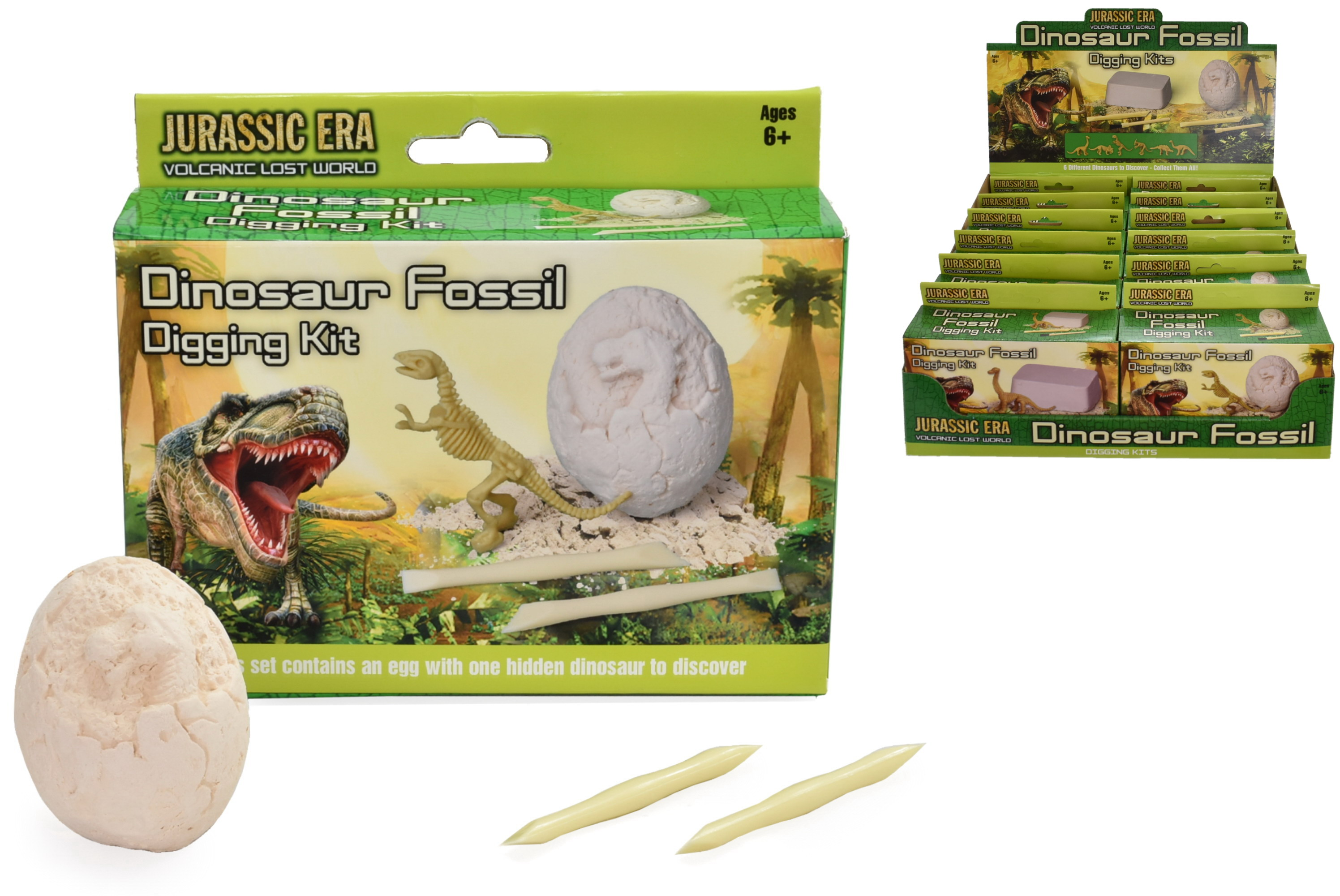 Dig Out Dinosaur Playsets 6 Assorted In Colour Box/Dbx