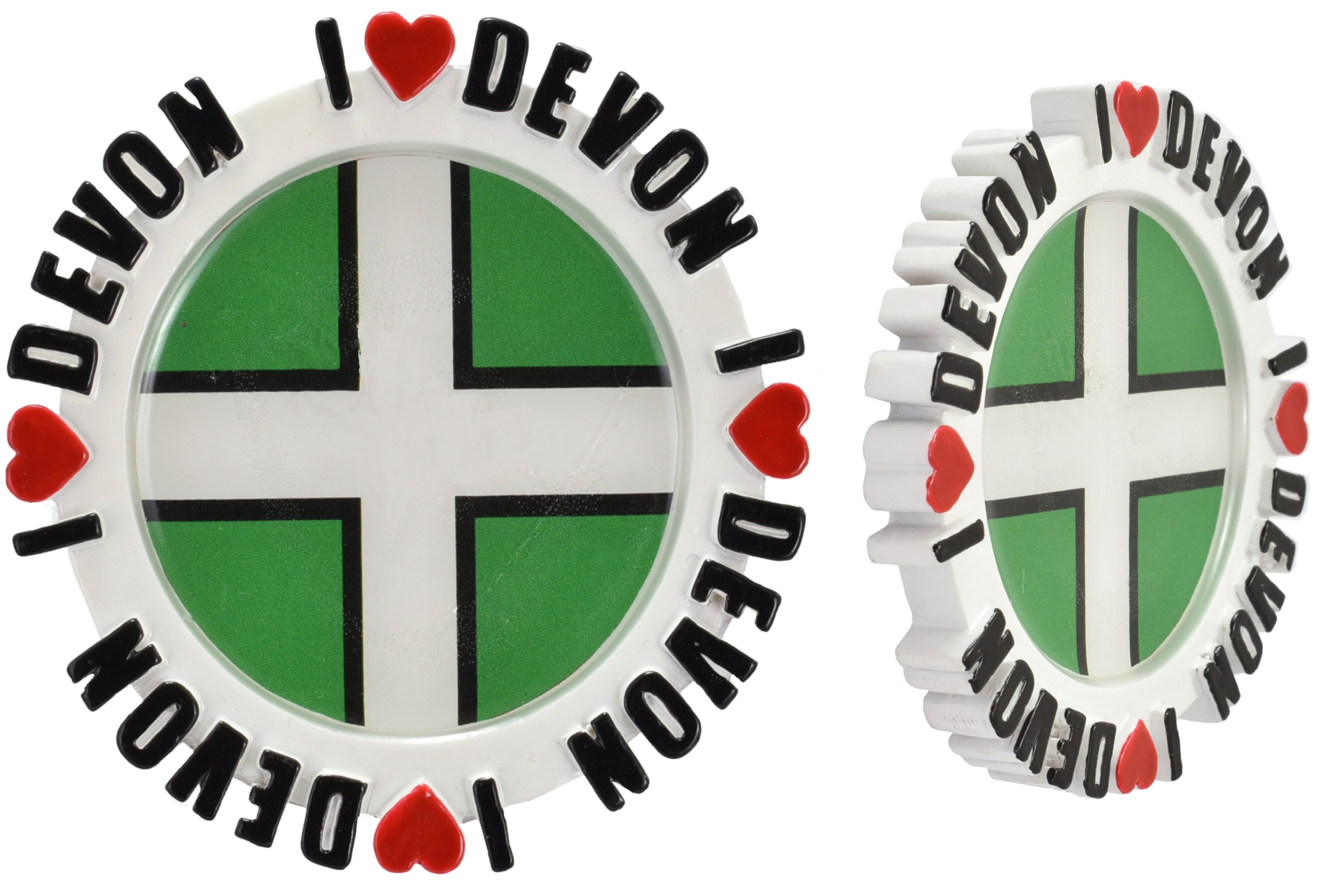 Round Resin Magnet Epoxy Picture I Love Devon