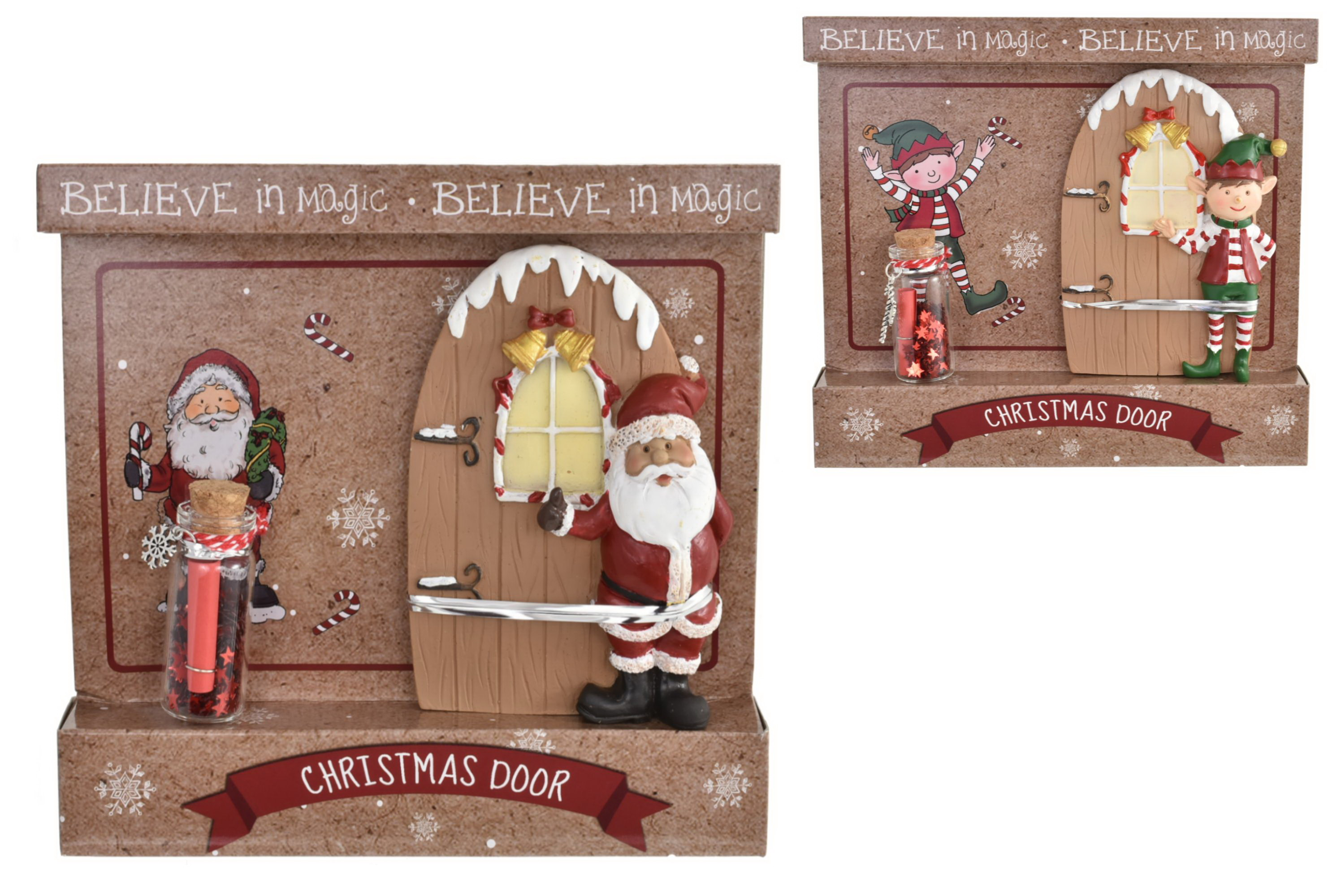 Christmas Elf Door & Wish Jar (2 Assorted) Colour Card