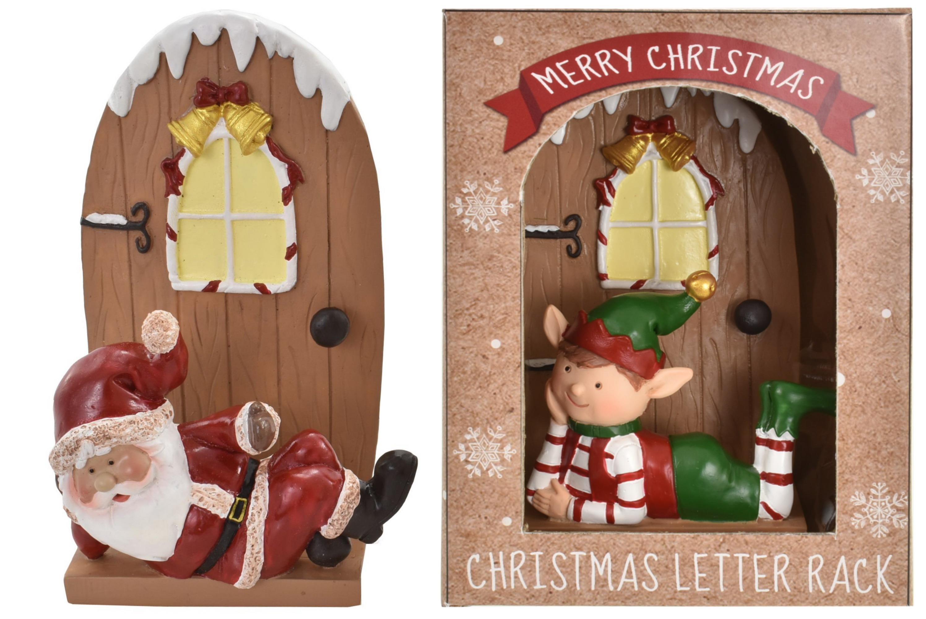 Christmas Santa & Elf Rack (2 Assorted) In Window Box
