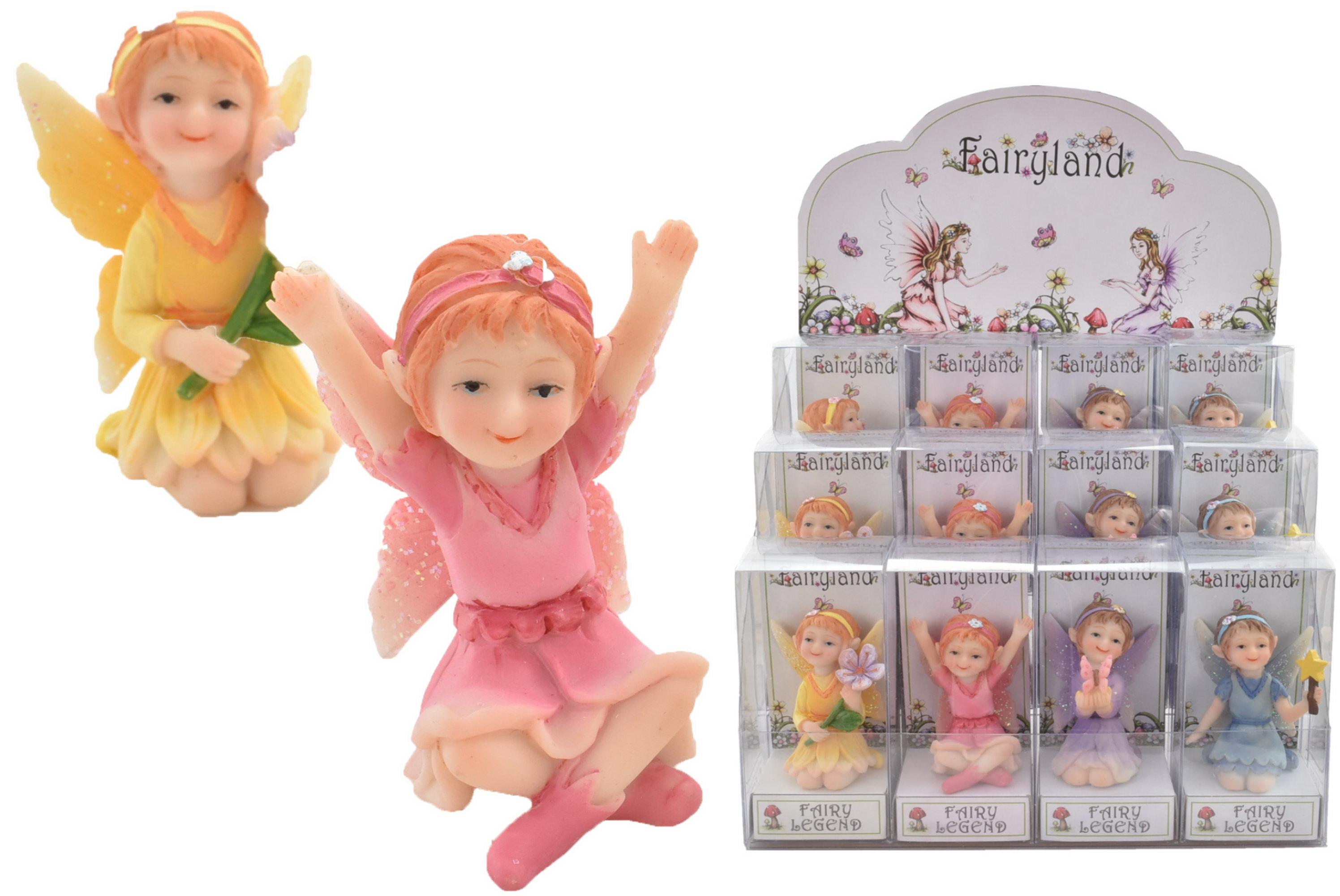 Fairy Figurine (4 Assorted) In Gift Box & Display Box