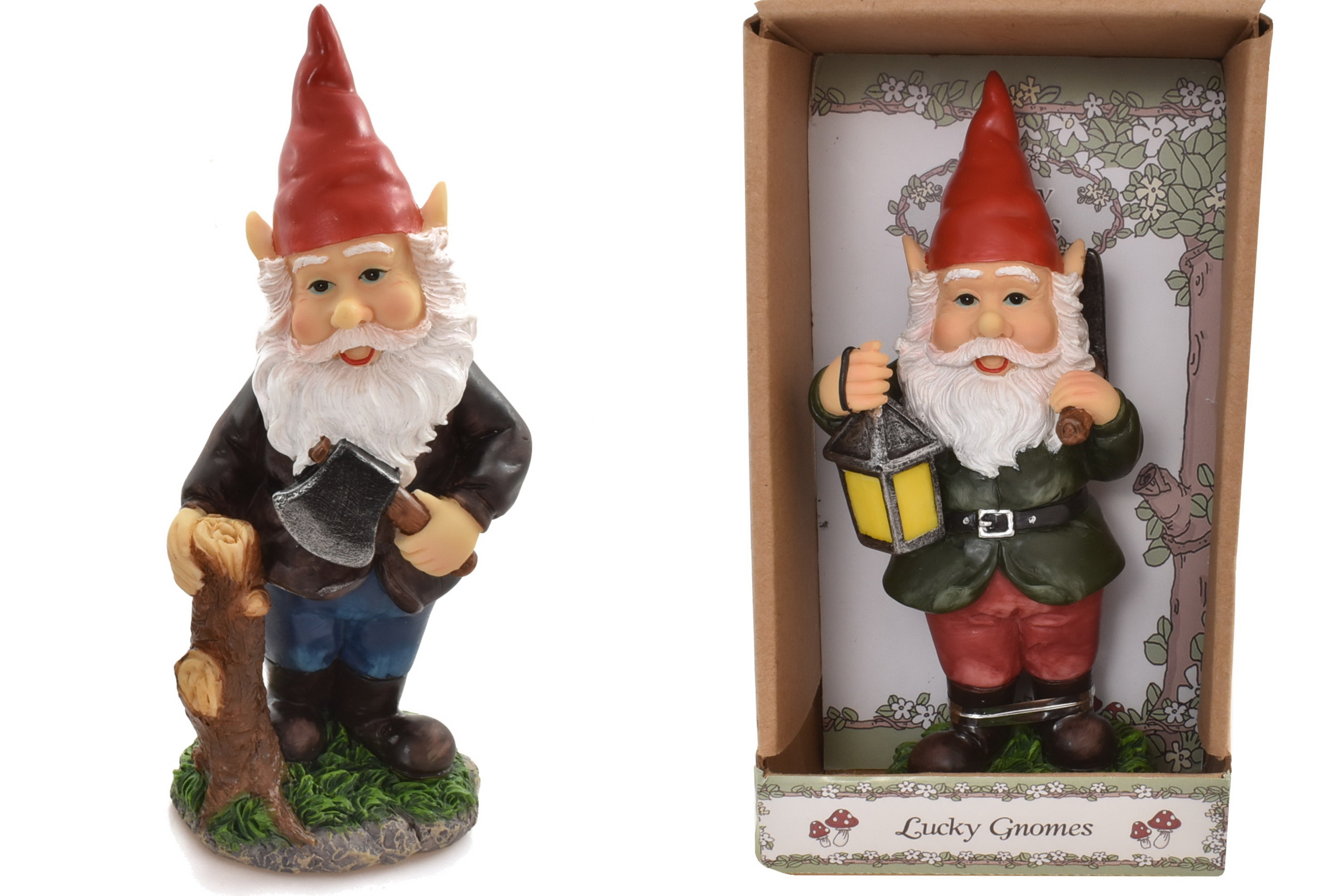 Poly Gnome Figurine (2 Assorted) In Gift Box