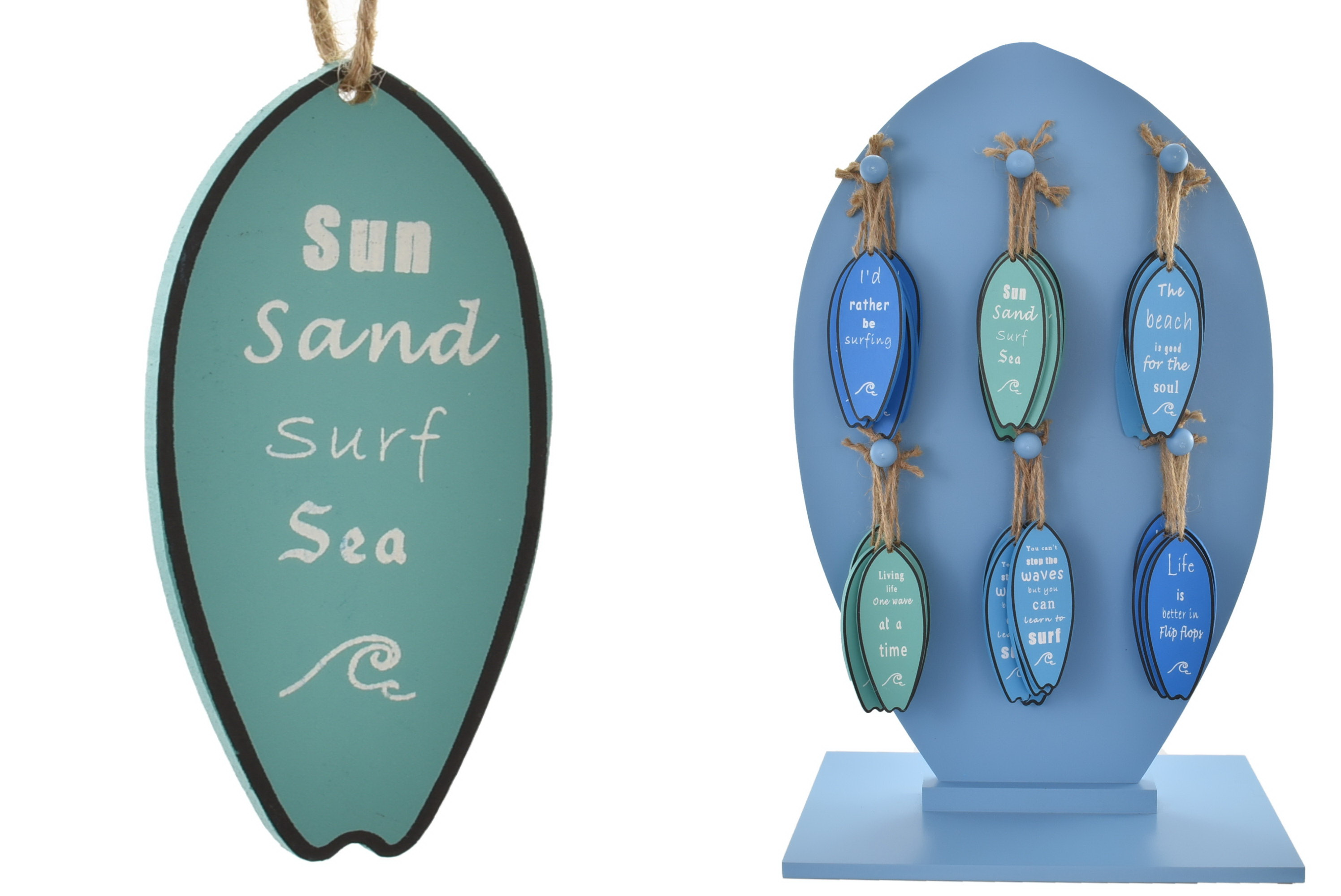 Wooden Surfboard Hangers On Display Stand