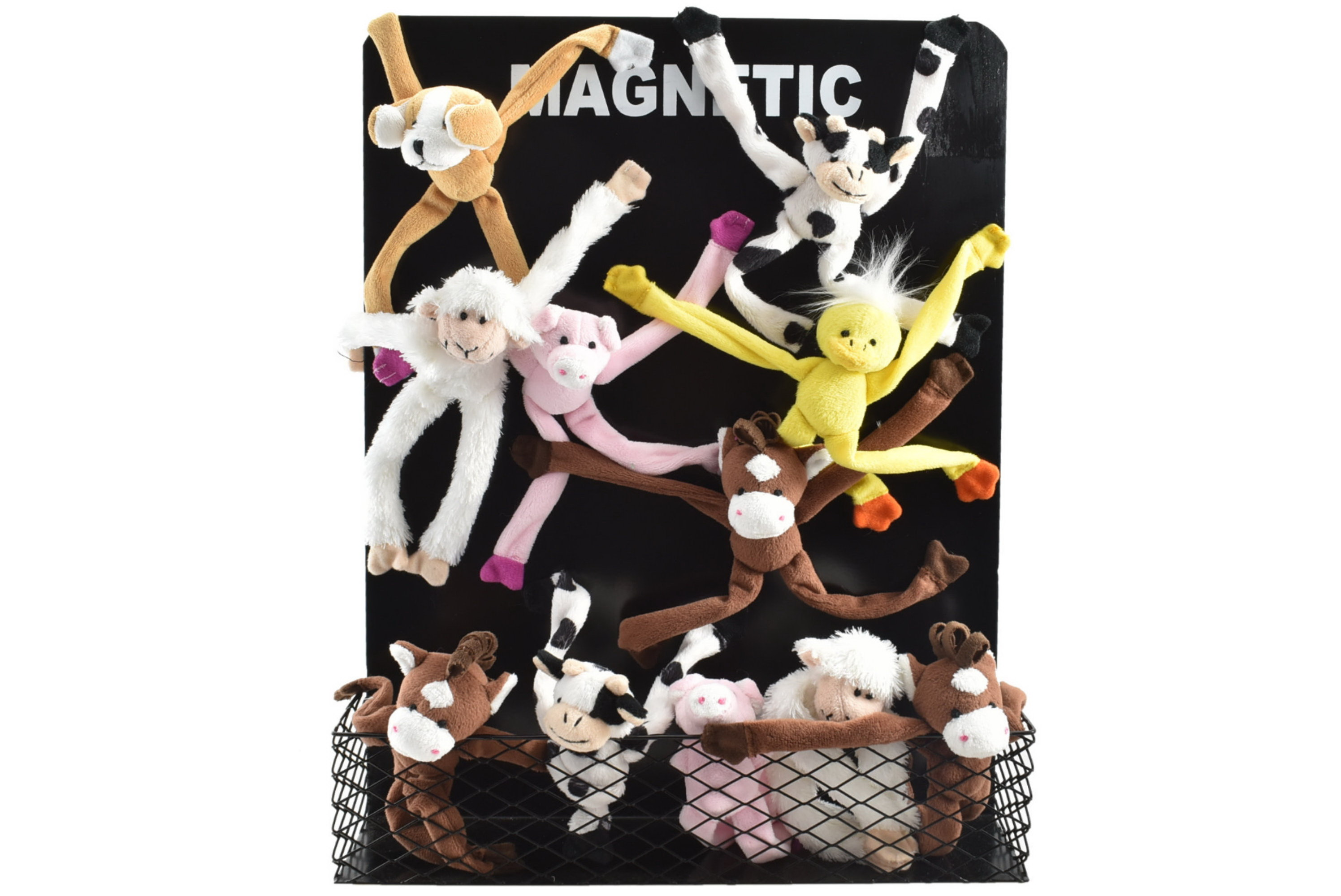 Farm Animal Magnets With Magnetic Display Stand 6 Asst