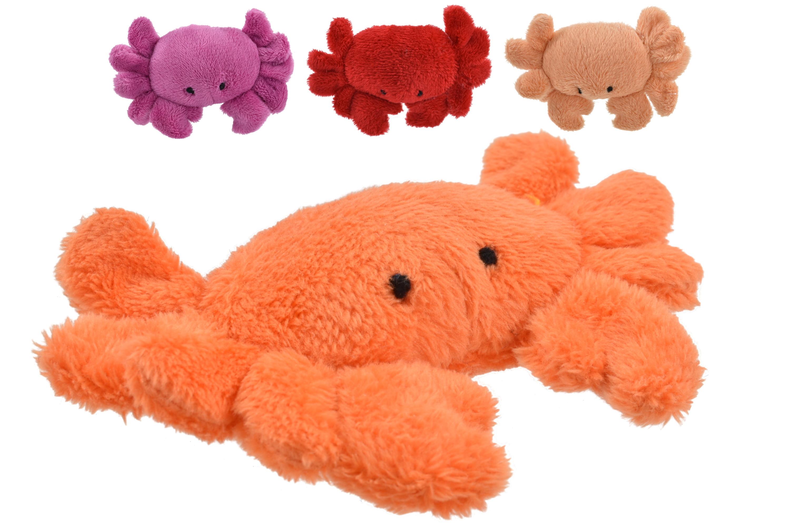 9cm Plush Crab Magnet 4 Assorted Colours