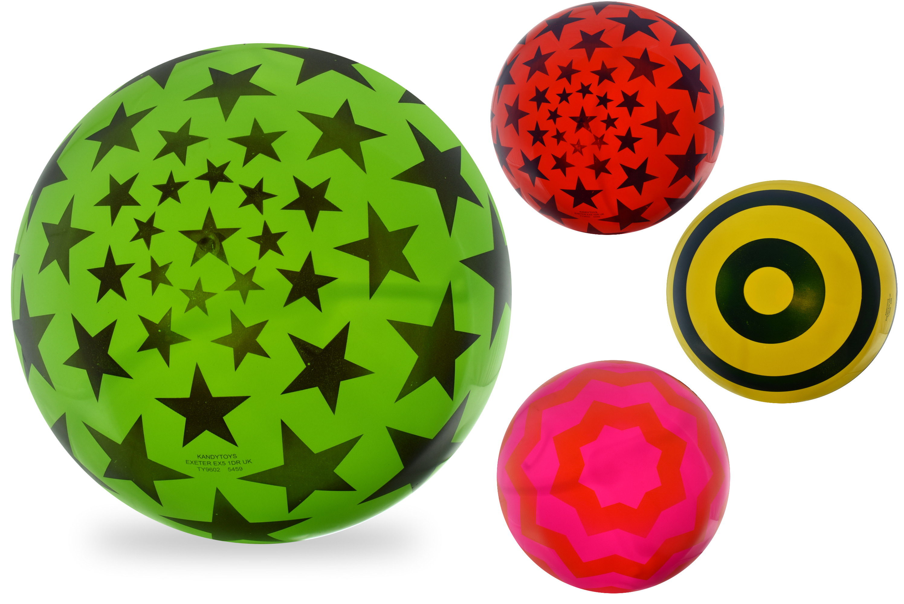 "15"" Printed Ball In Net 4 Assorted (D)"